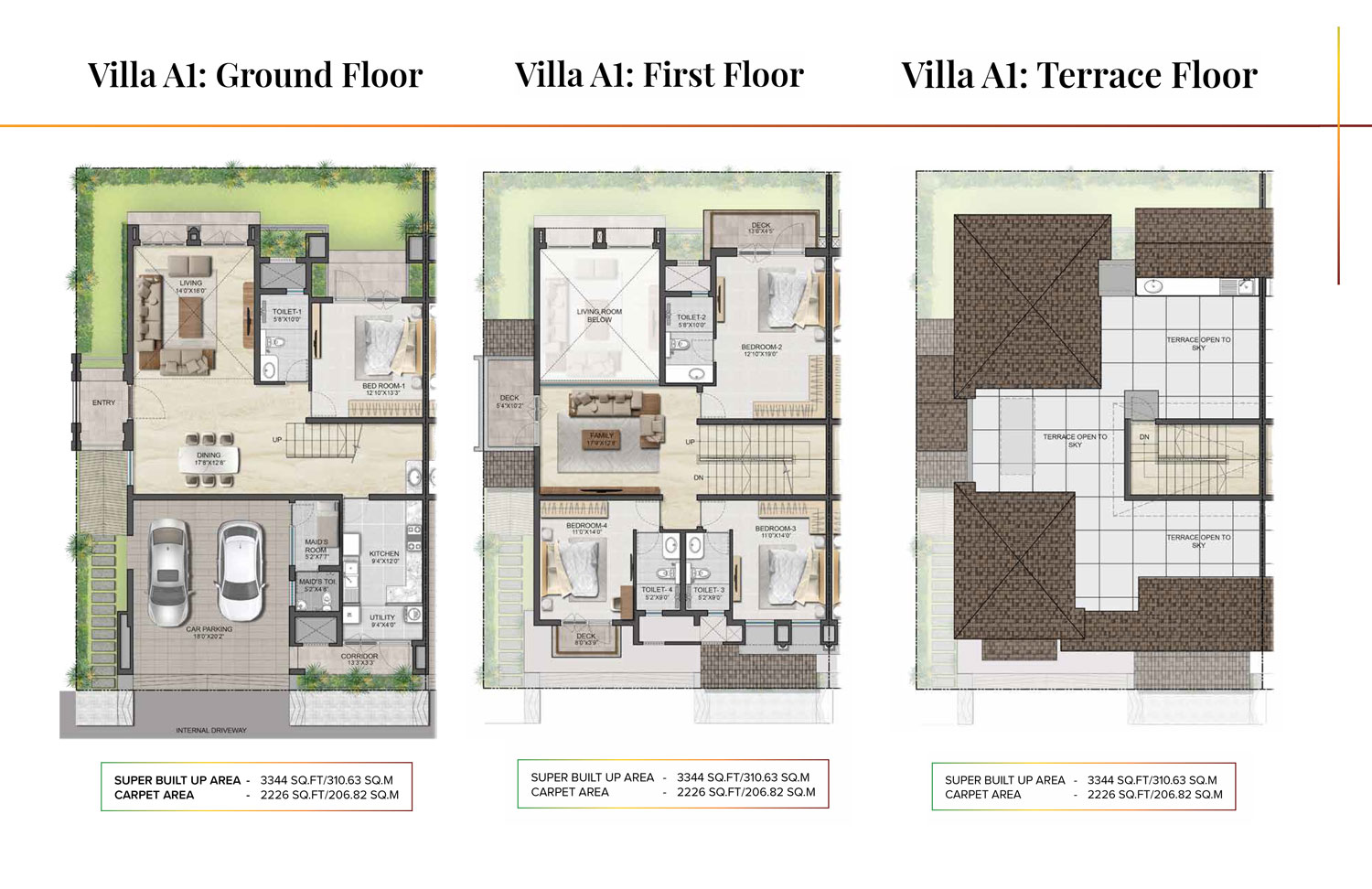 Type A1 - 3344 Sq Ft