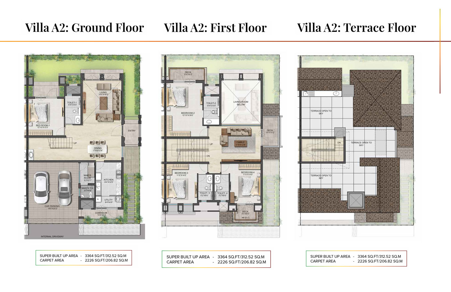 Type A2 - 3364 Sq Ft