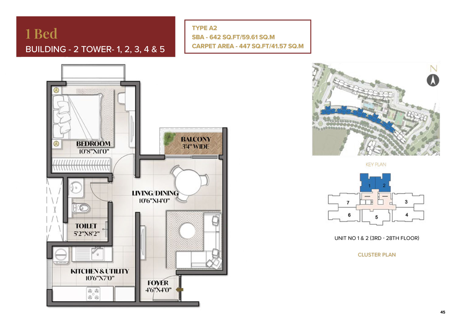 Type A2 - 642 Sq Ft