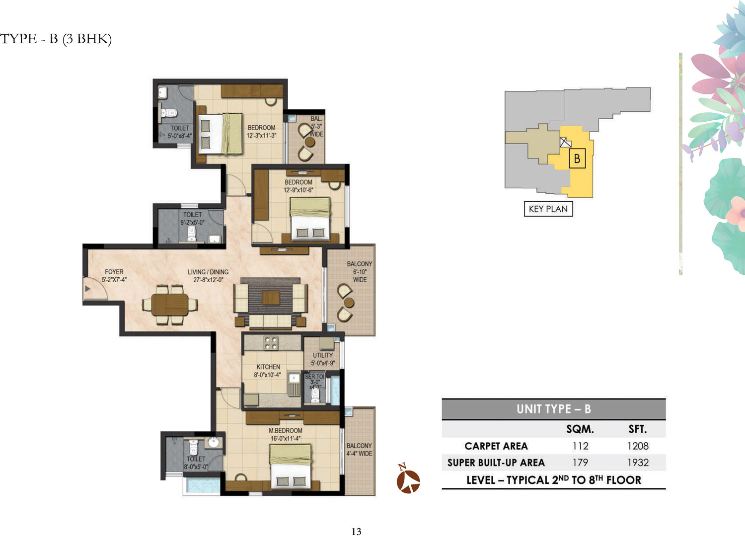 Type B - 3 Bed - 1932 Sq Ft