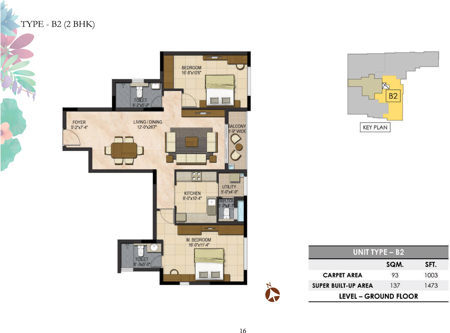 Type B2 - 2 Bed - 1473 Sq Ft