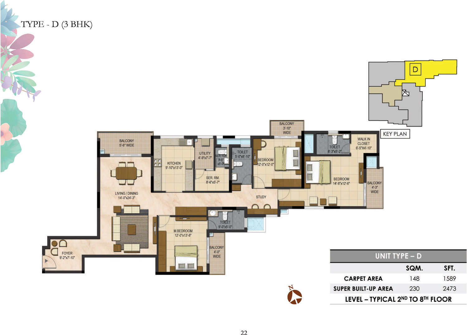 Type D - 3 Bed - 2473 Sq Ft