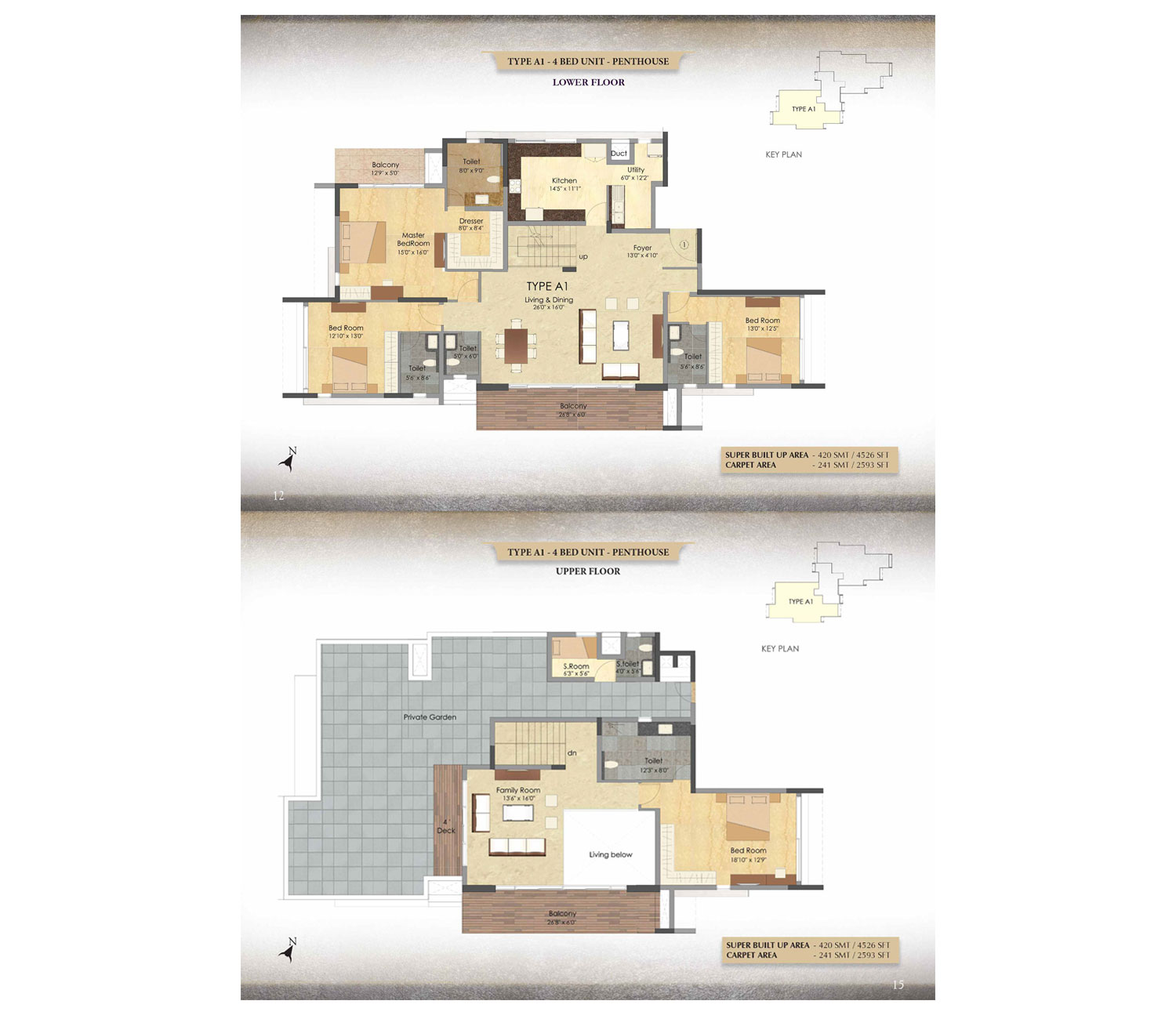 Type A1 - 4 BHK - Penthhouse - 4526 Sq Ft