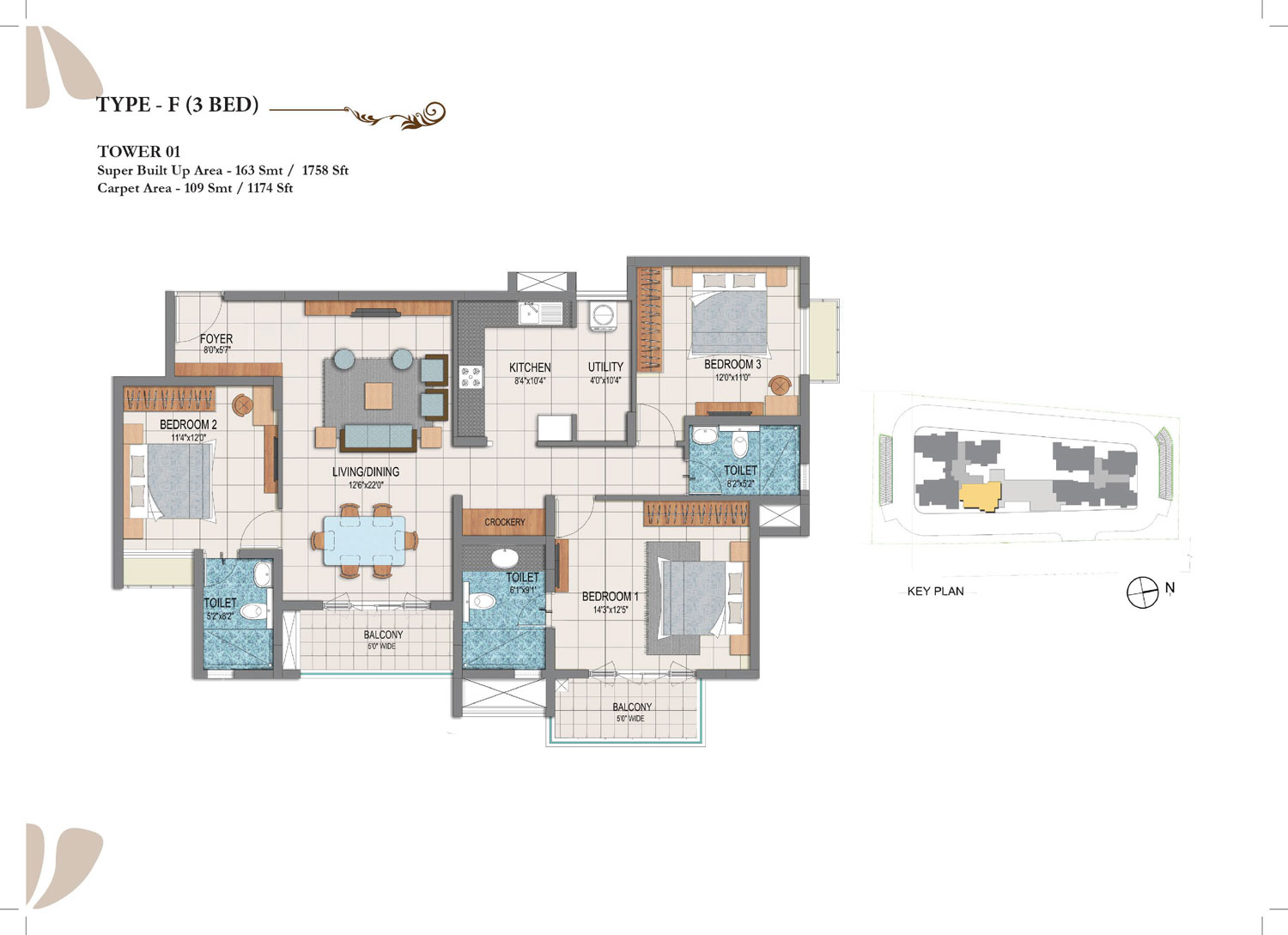 Type F - 3 Bed - 1758 Sq Ft