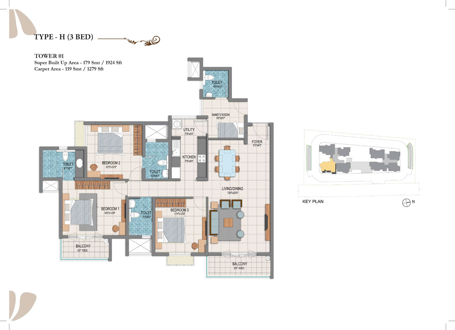Type H - 3 Bed - 1924 Sq Ft
