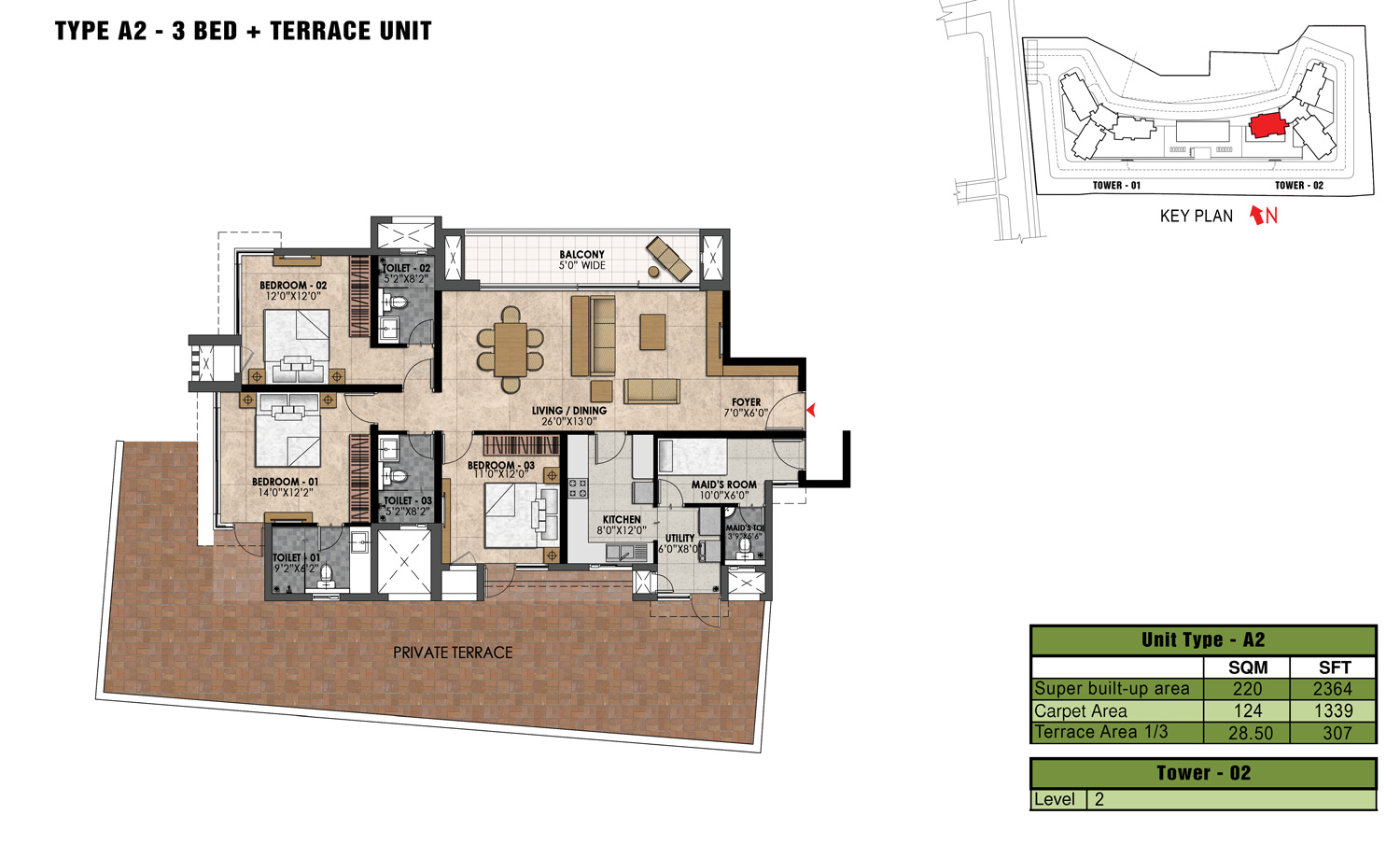 Type A2 - 2364 Sq Ft