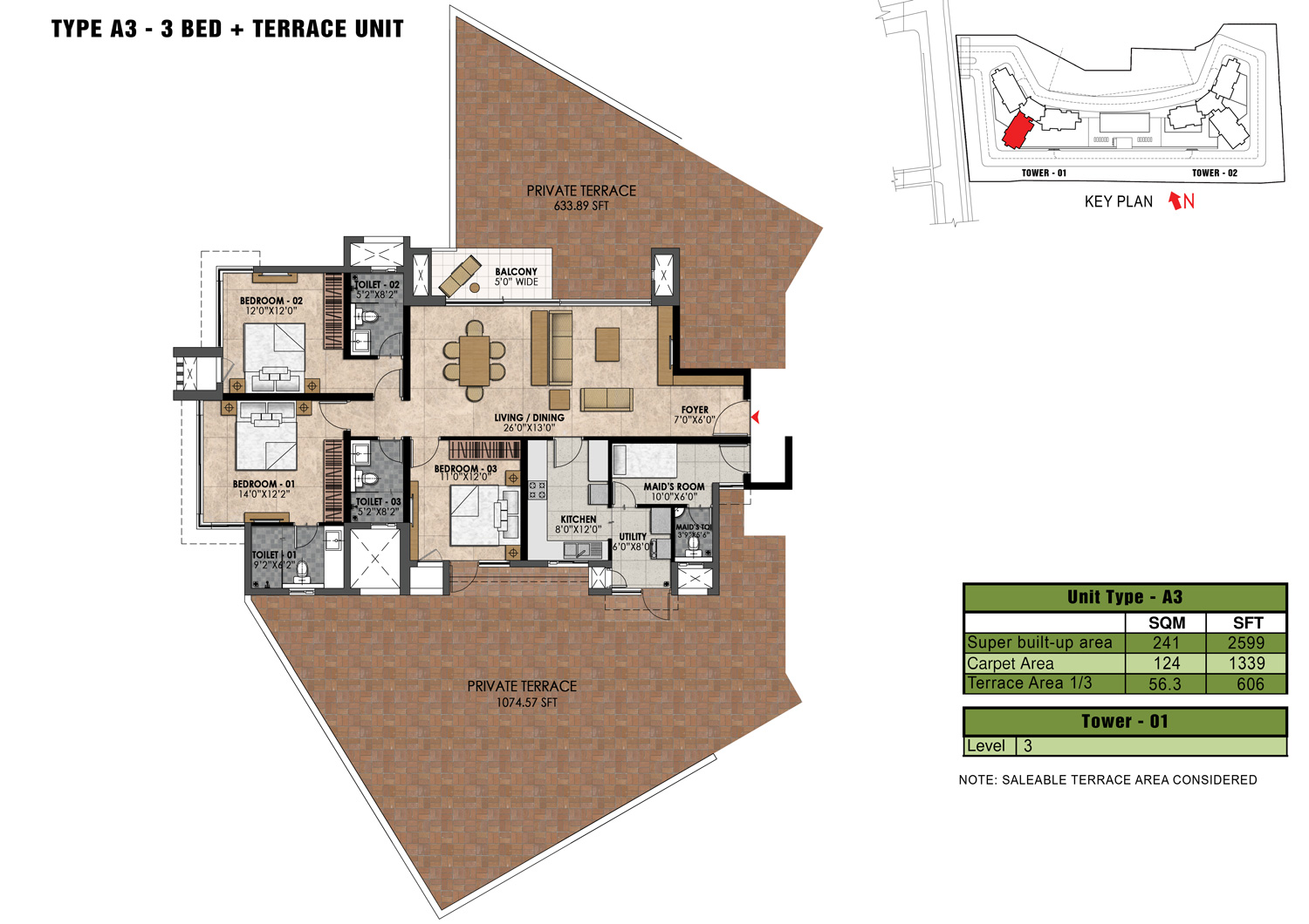 Type A3 - 2599 Sq Ft