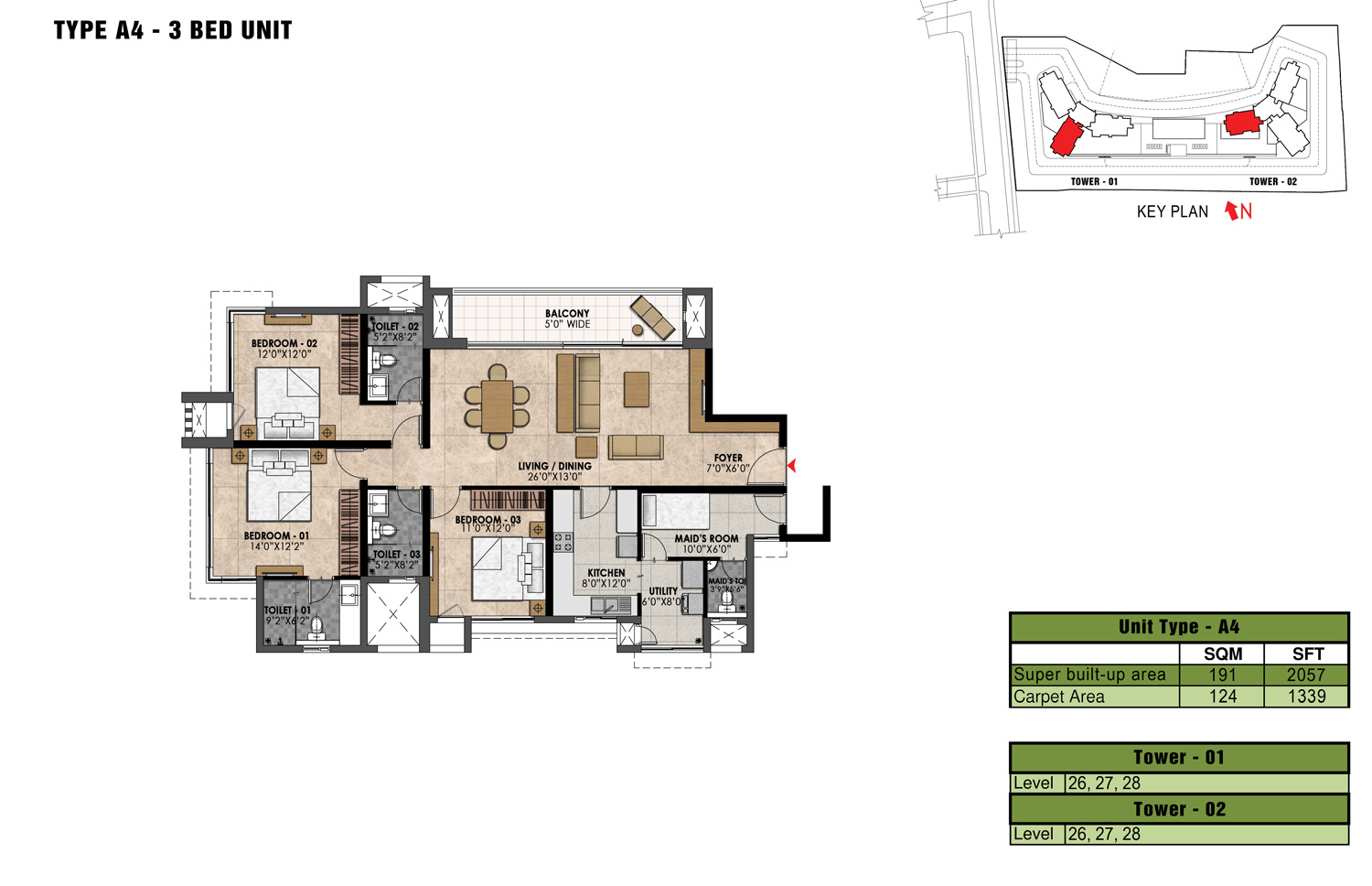 Type A4 - 2057 Sq Ft