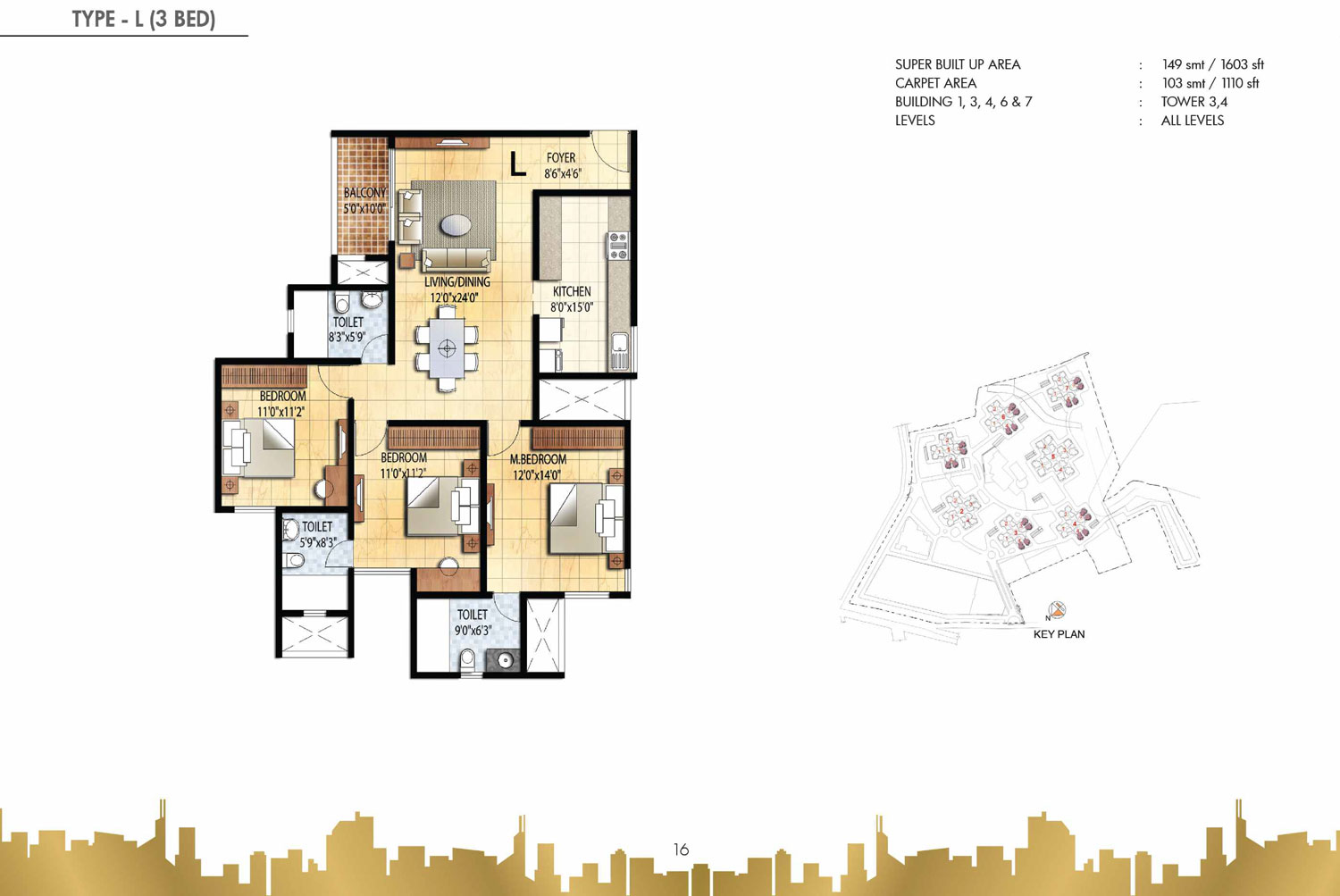 Type L - 3 Bed - 1603 Sq Ft