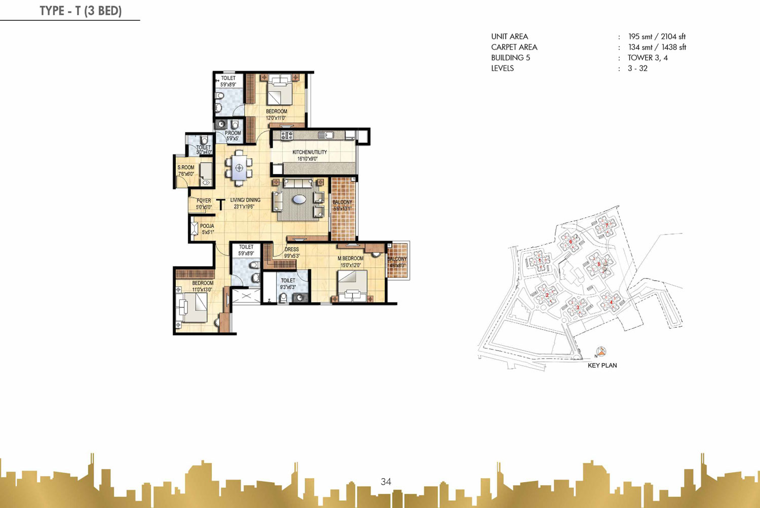 Type T - 3 Bed - 2104 Sq Ft