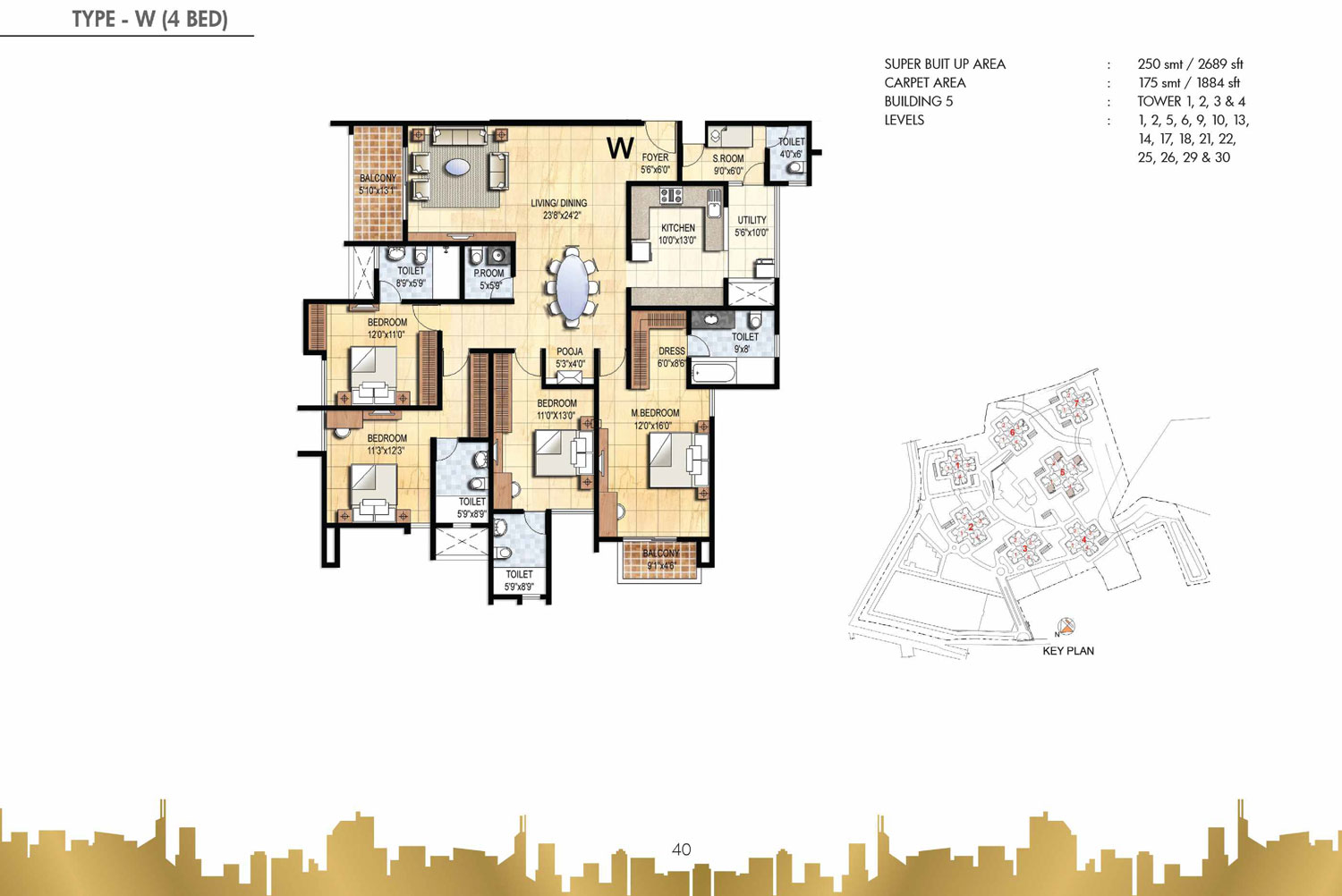Type W - 4 Bed - 2689 Sq Ft