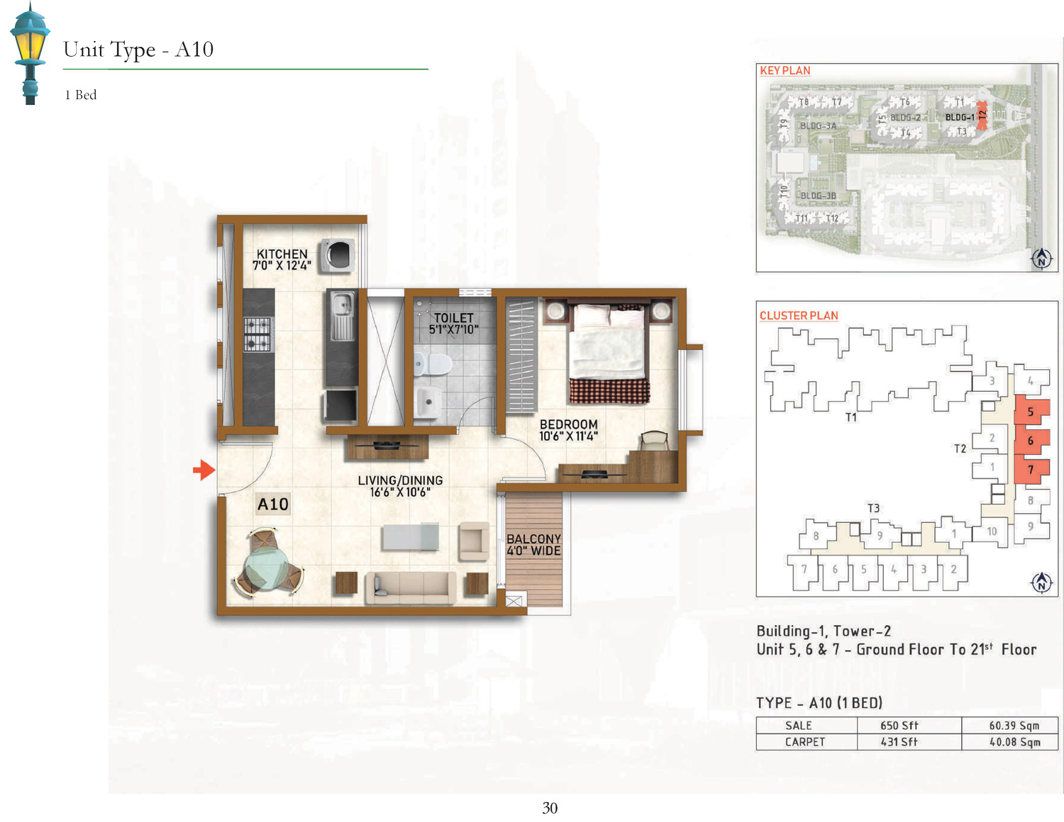 Type A10 - 650 Sq Ft