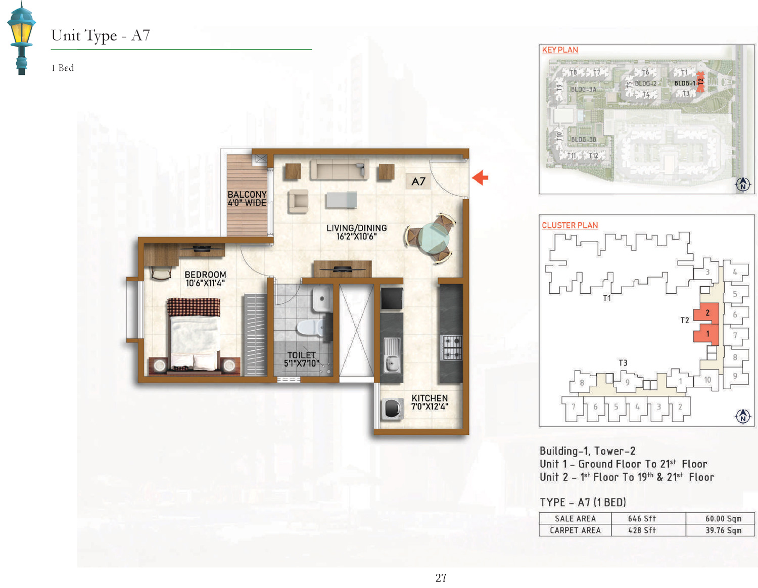 Type A7 - 646 Sq Ft
