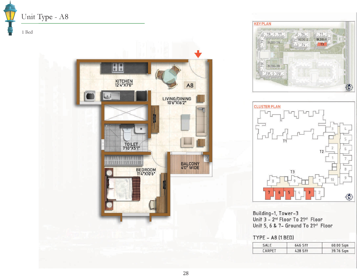 Type A8 - 646 Sq Ft
