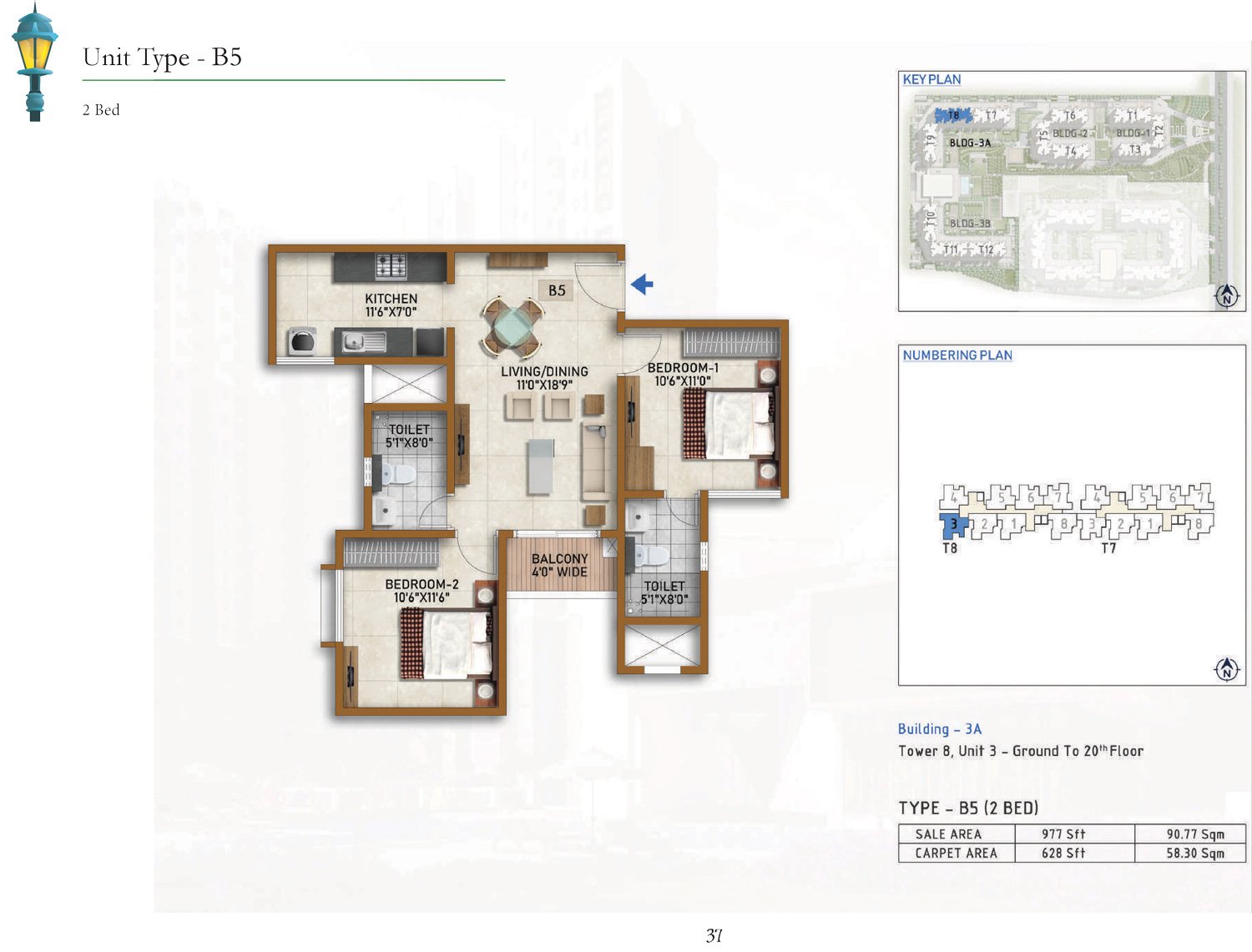 Type B5 - 977 Sq Ft