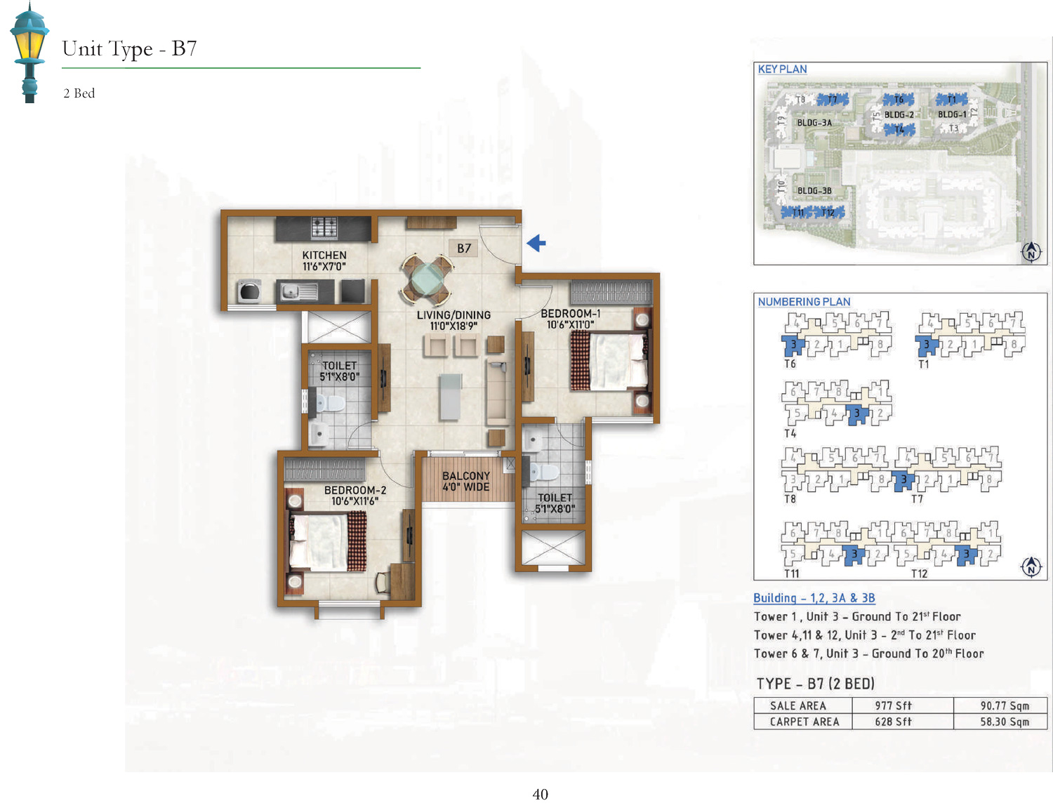 Type B7 - 977 Sq Ft