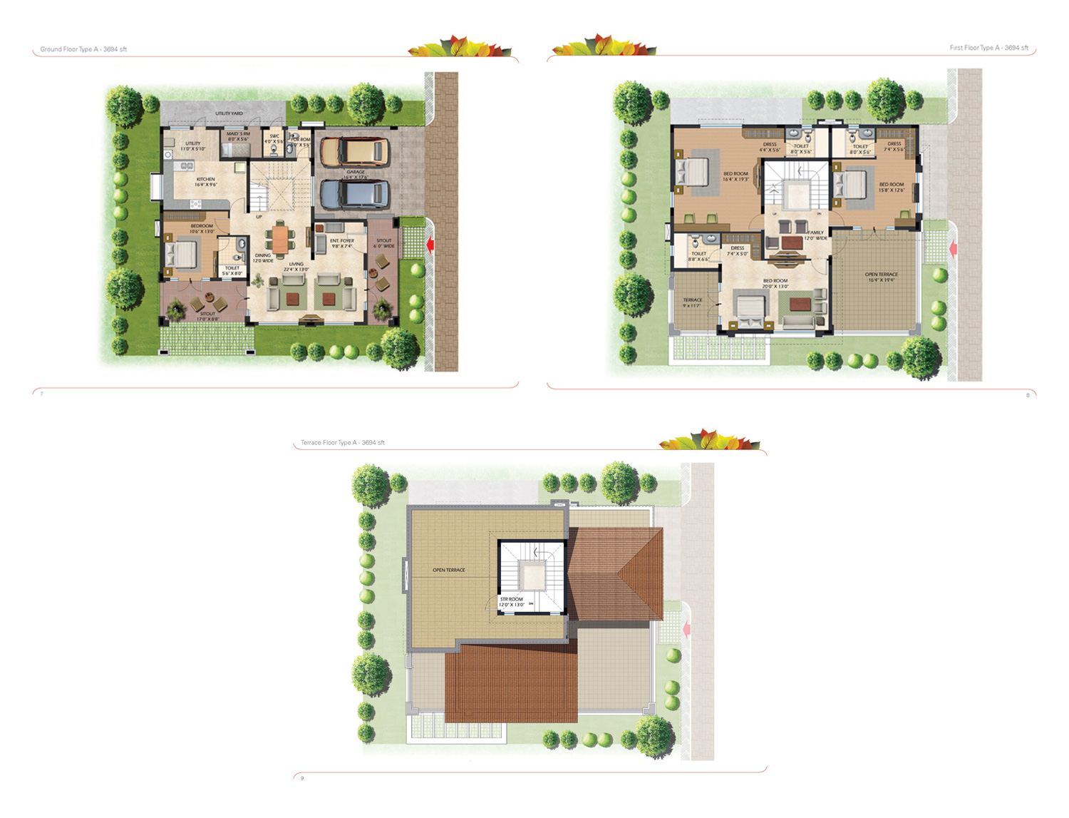 Type A - 3694 Sq Ft
