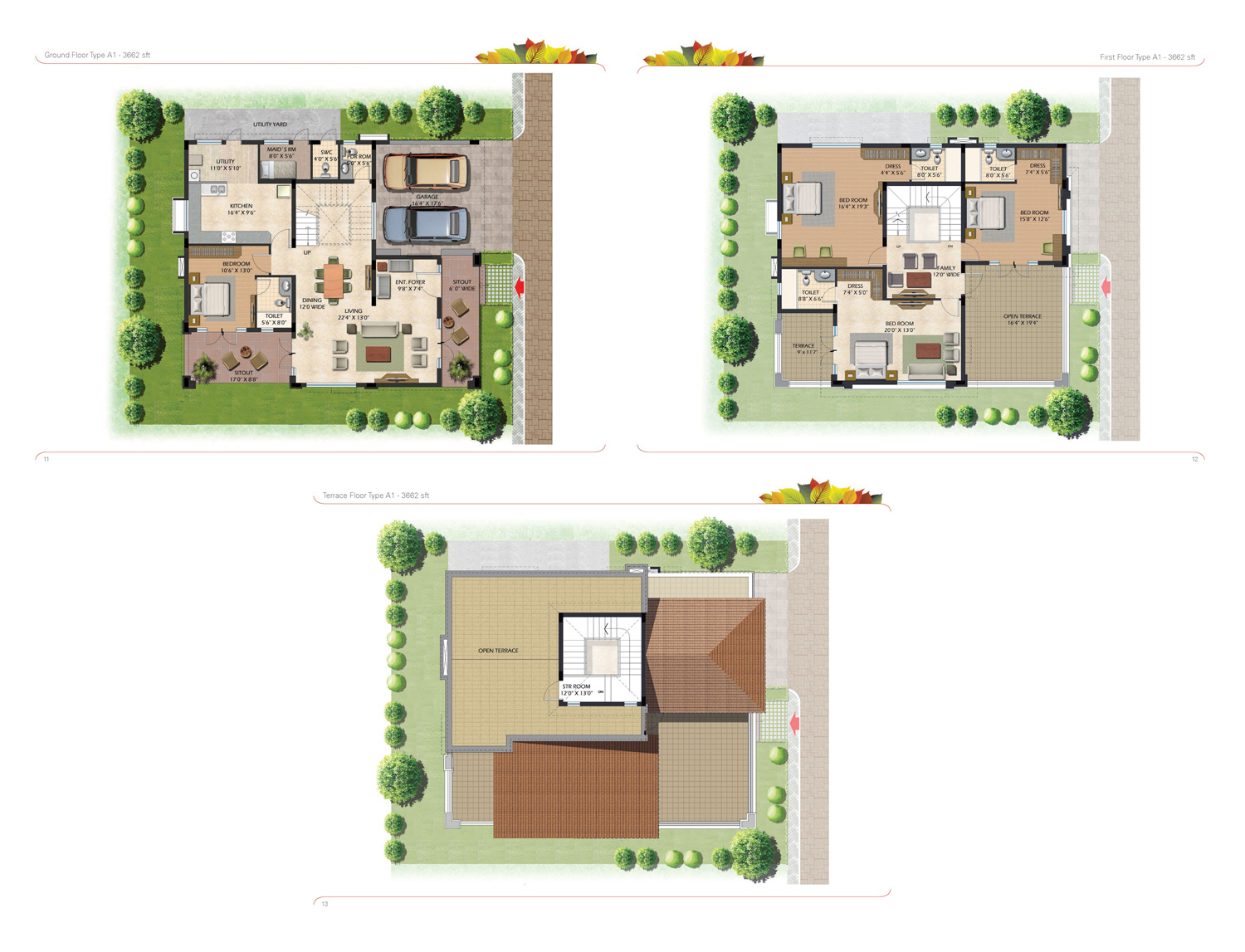 Type A1 - 3662 Sq Ft