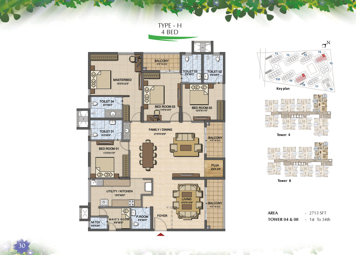 Type H - 4 Bed - 2713 Sq Ft