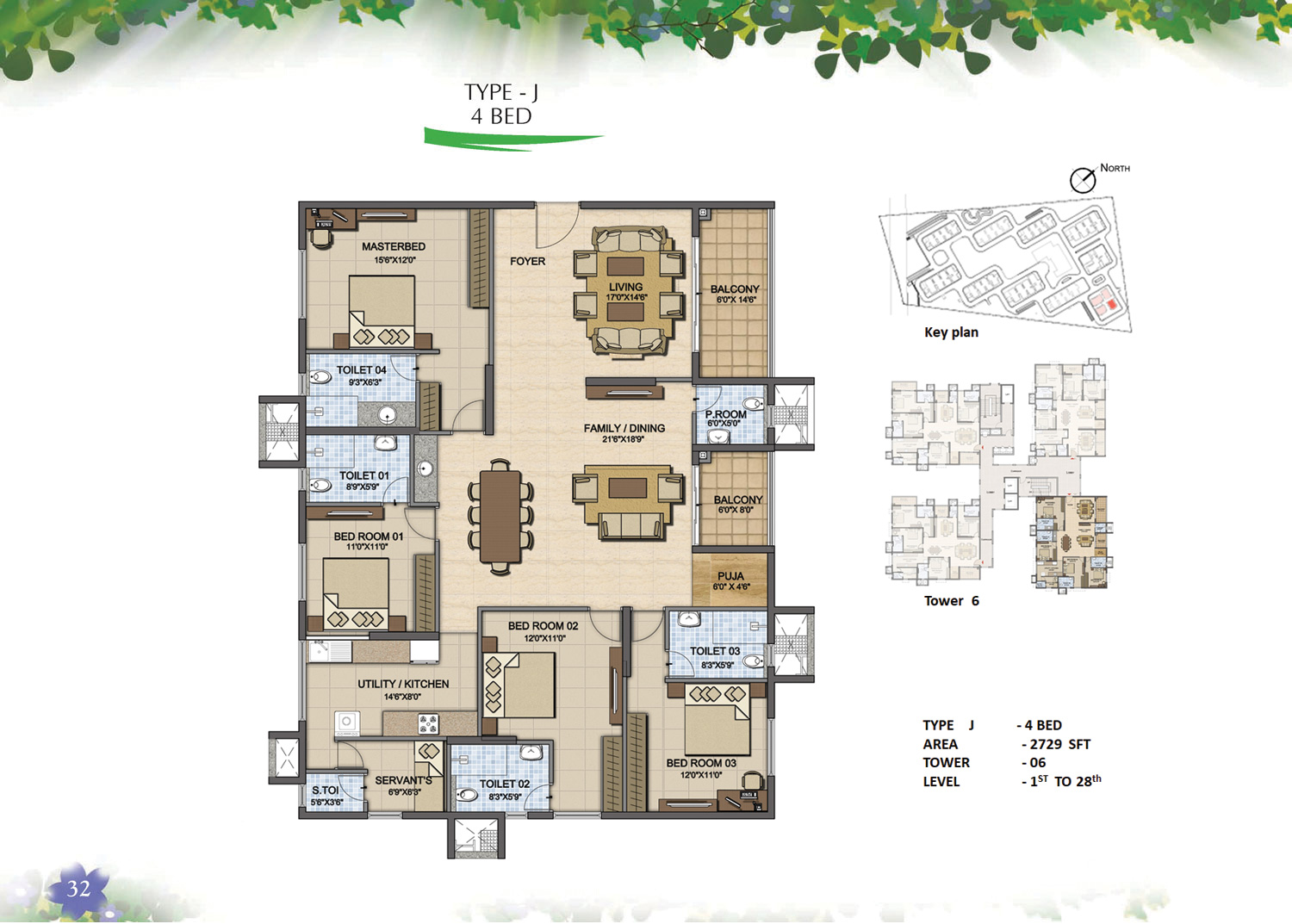 Type J - 4 Bed - 2729 Sq Ft