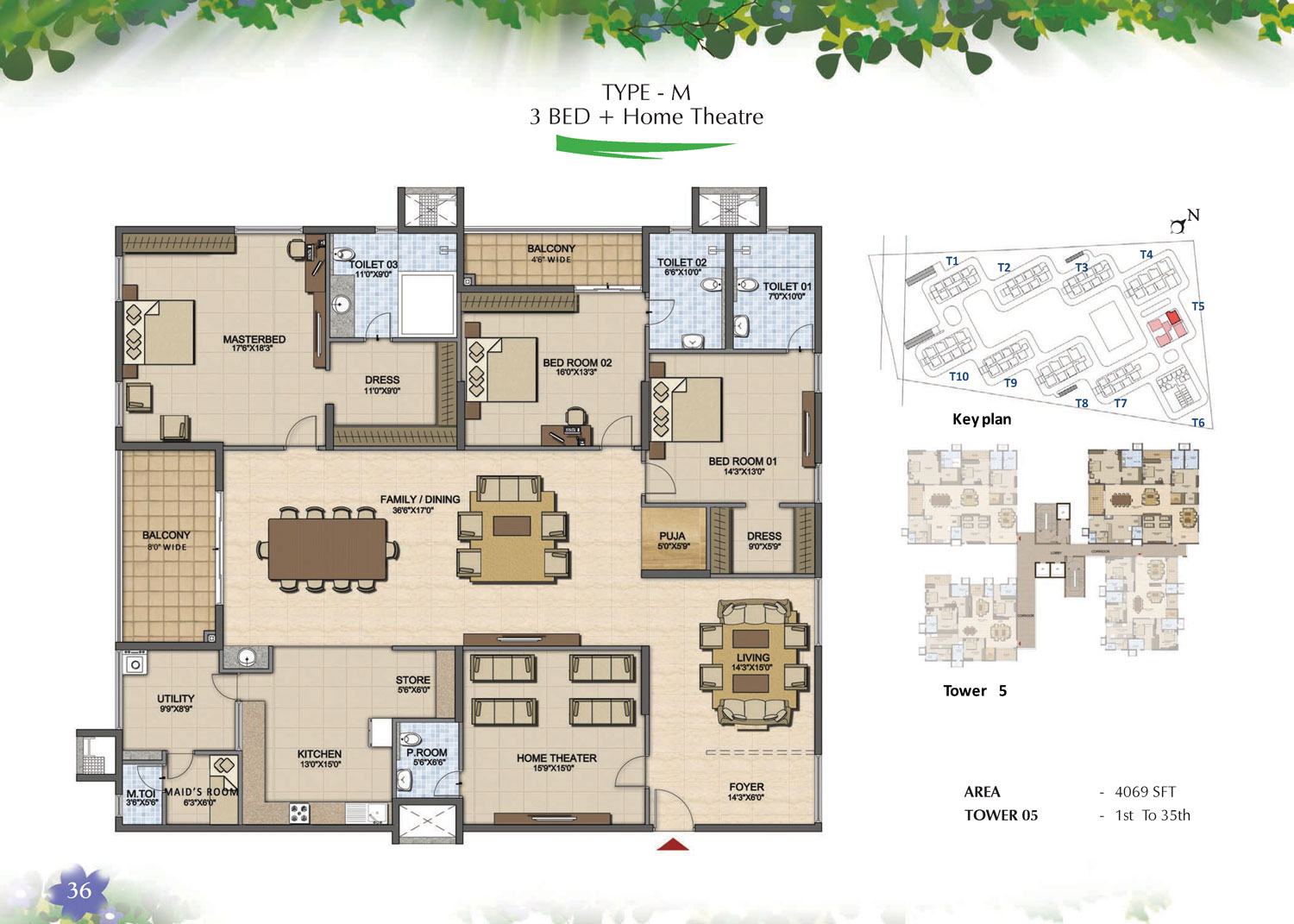 Type M - 3 Bed - 4069 Sq Ft