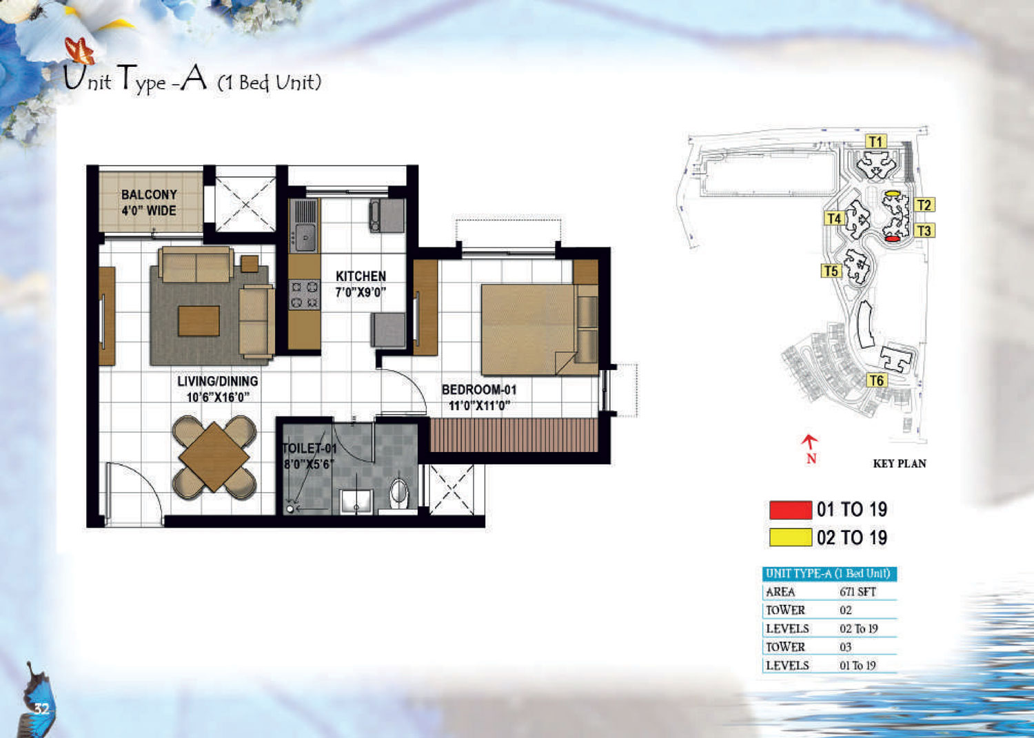 Type A - 671 Sq Ft
