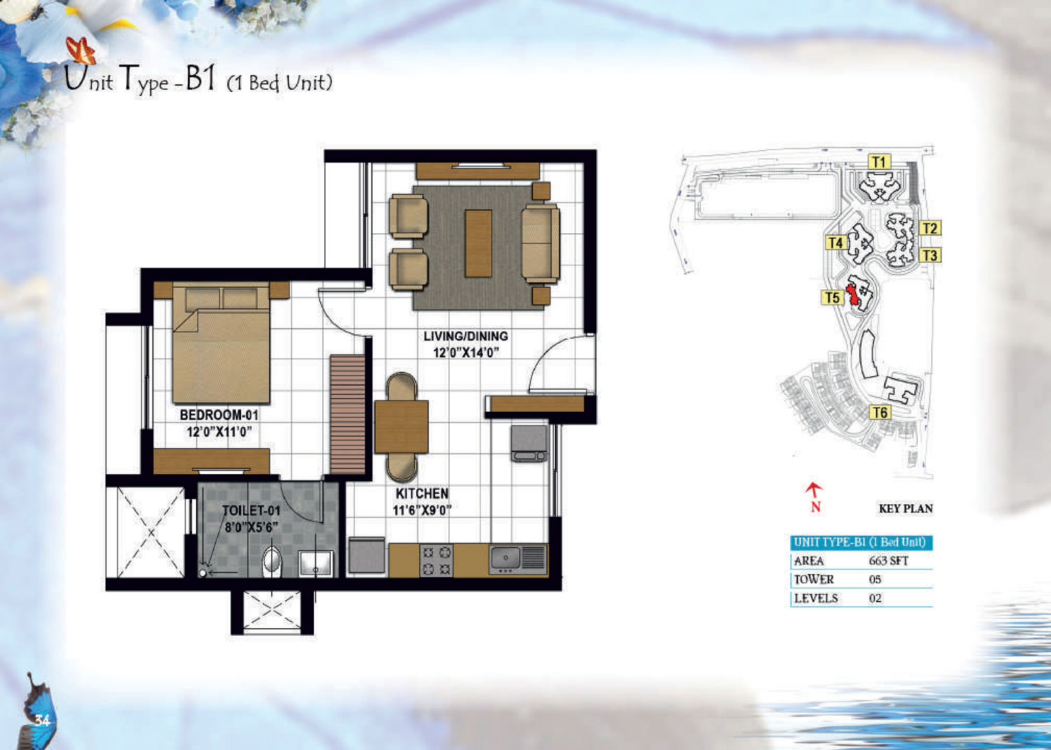 Type B1 - 683 Sq Ft
