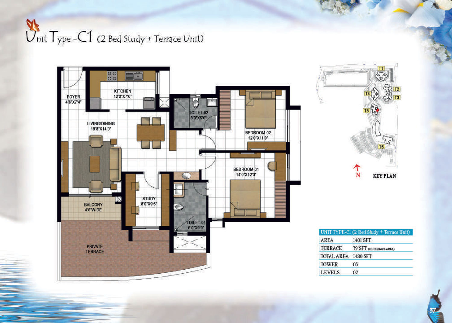 Type C1 - 1480 Sq Ft