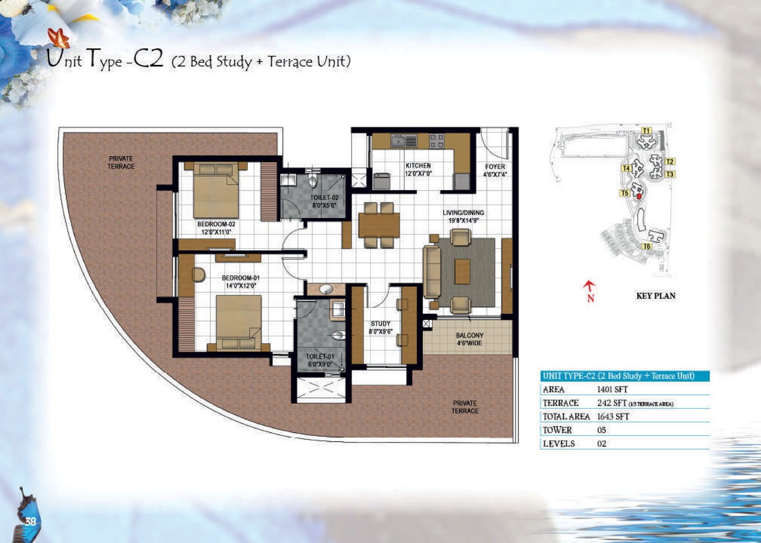 Type C2 - 1643 Sq Ft