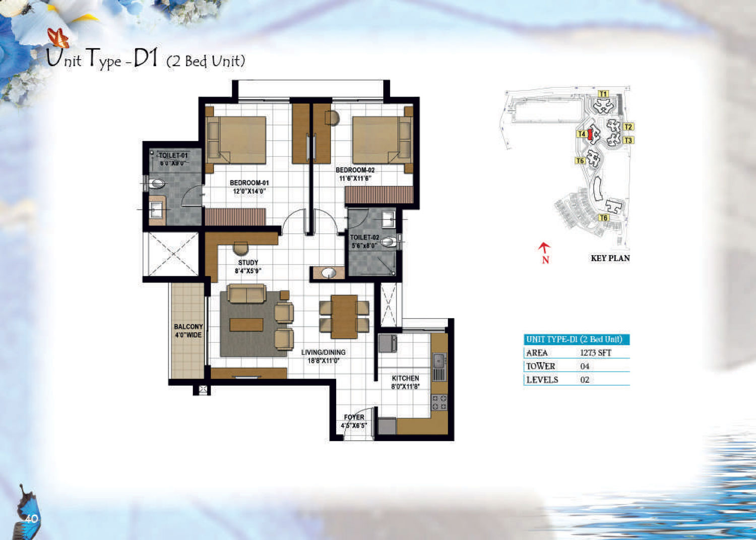 Type D1 - 1273 Sq Ft