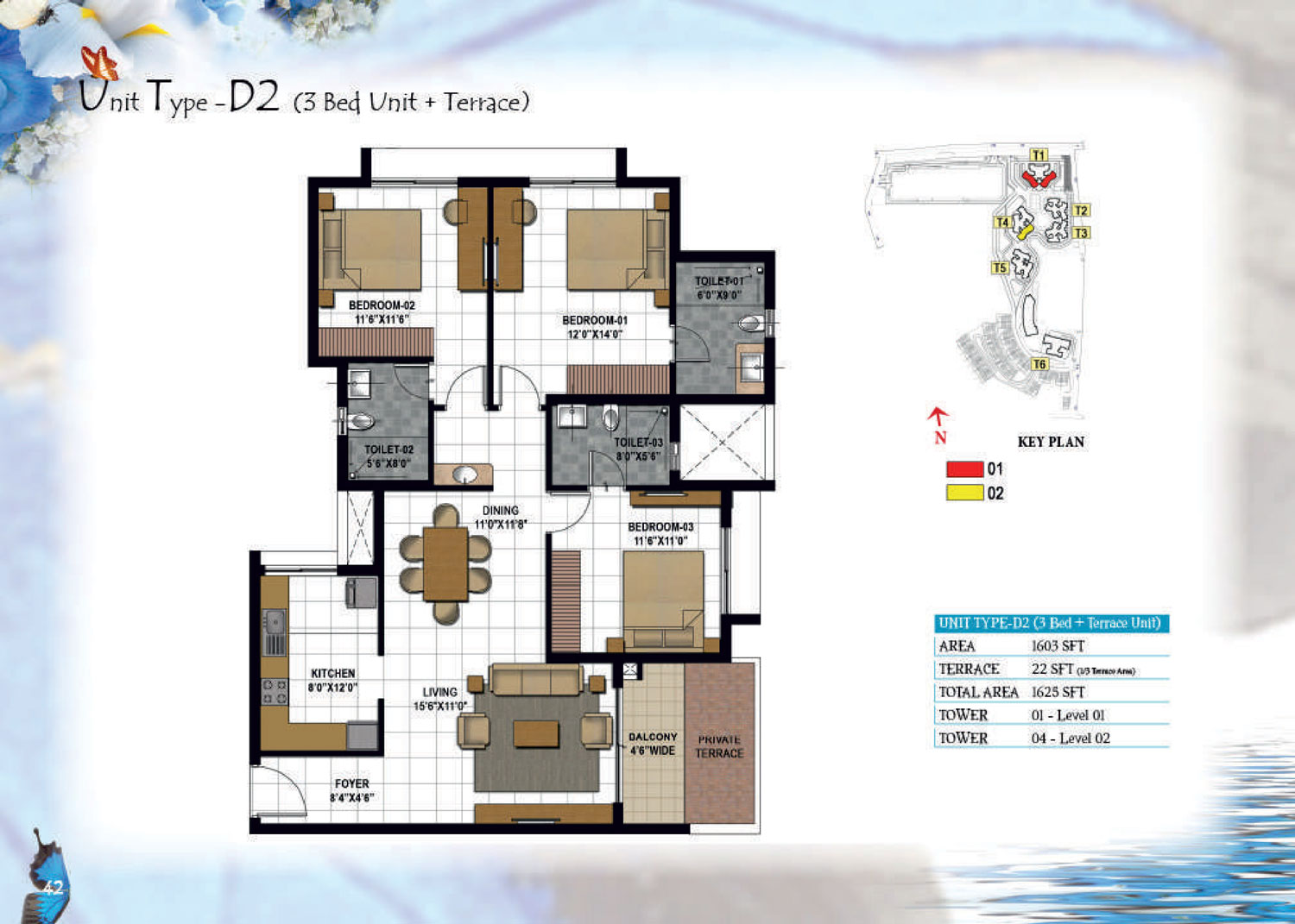 Type D2 - 1625 Sq Ft