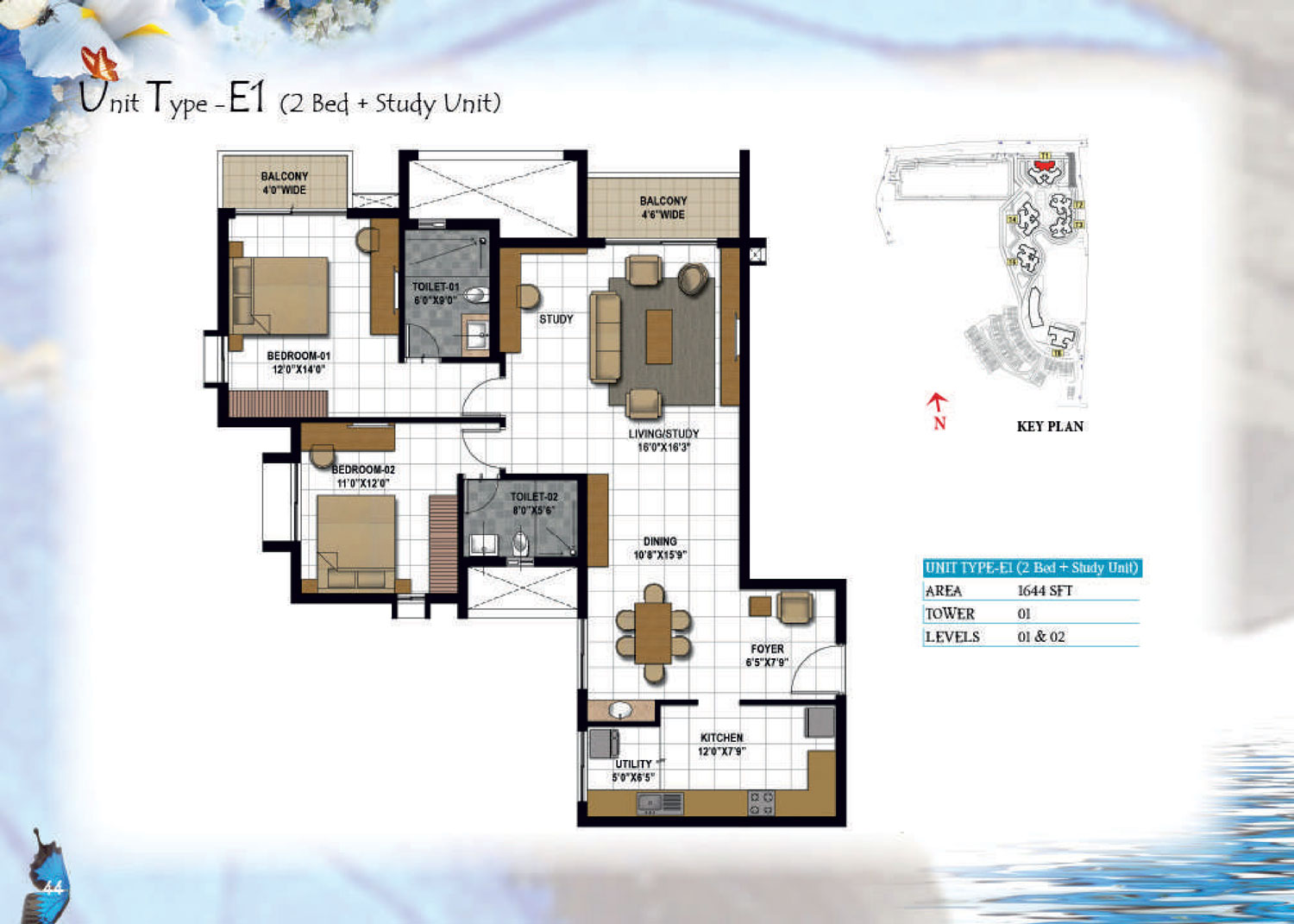 Type E1 - 1644 Sq Ft