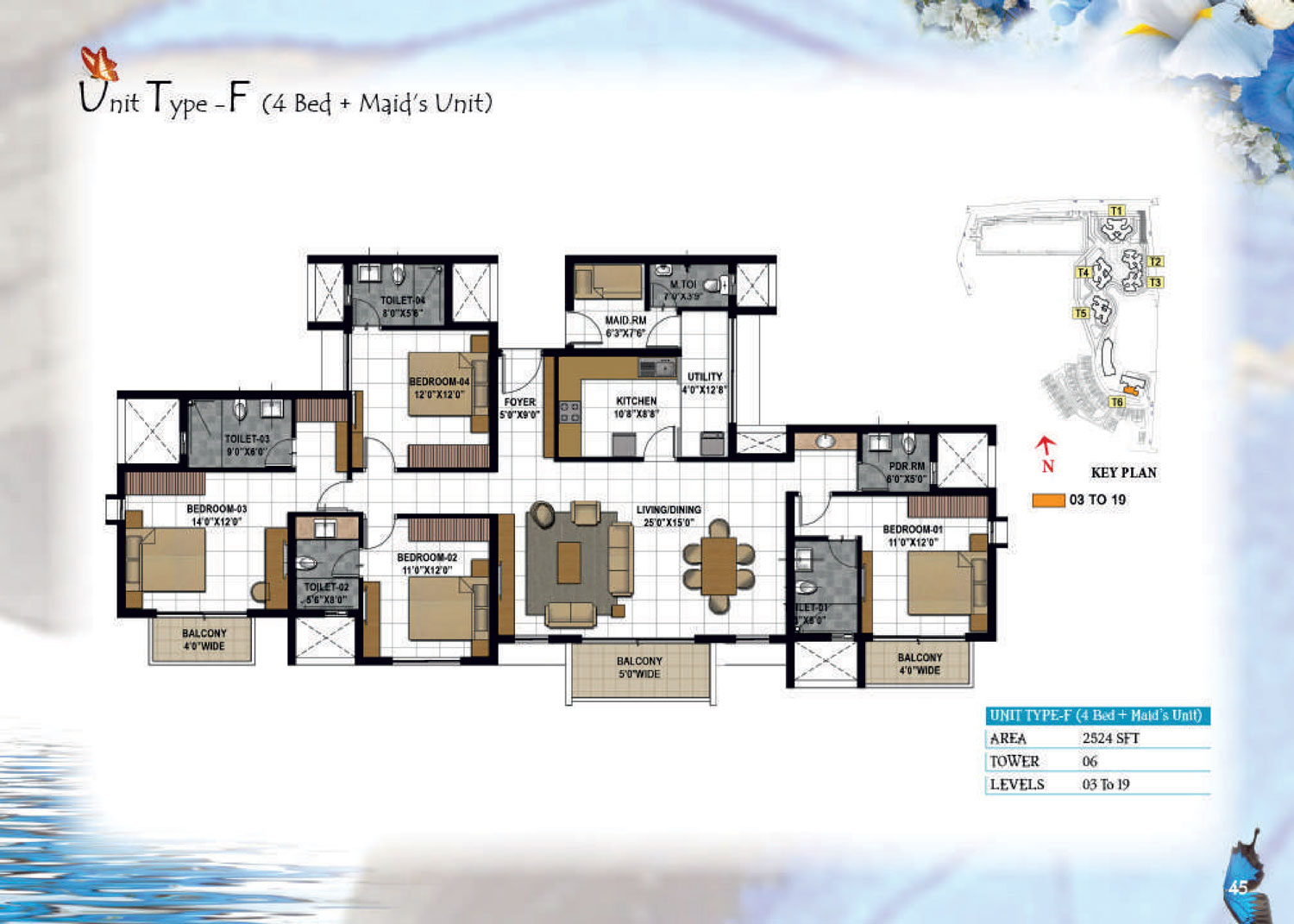 Type F - 2524 Sq Ft