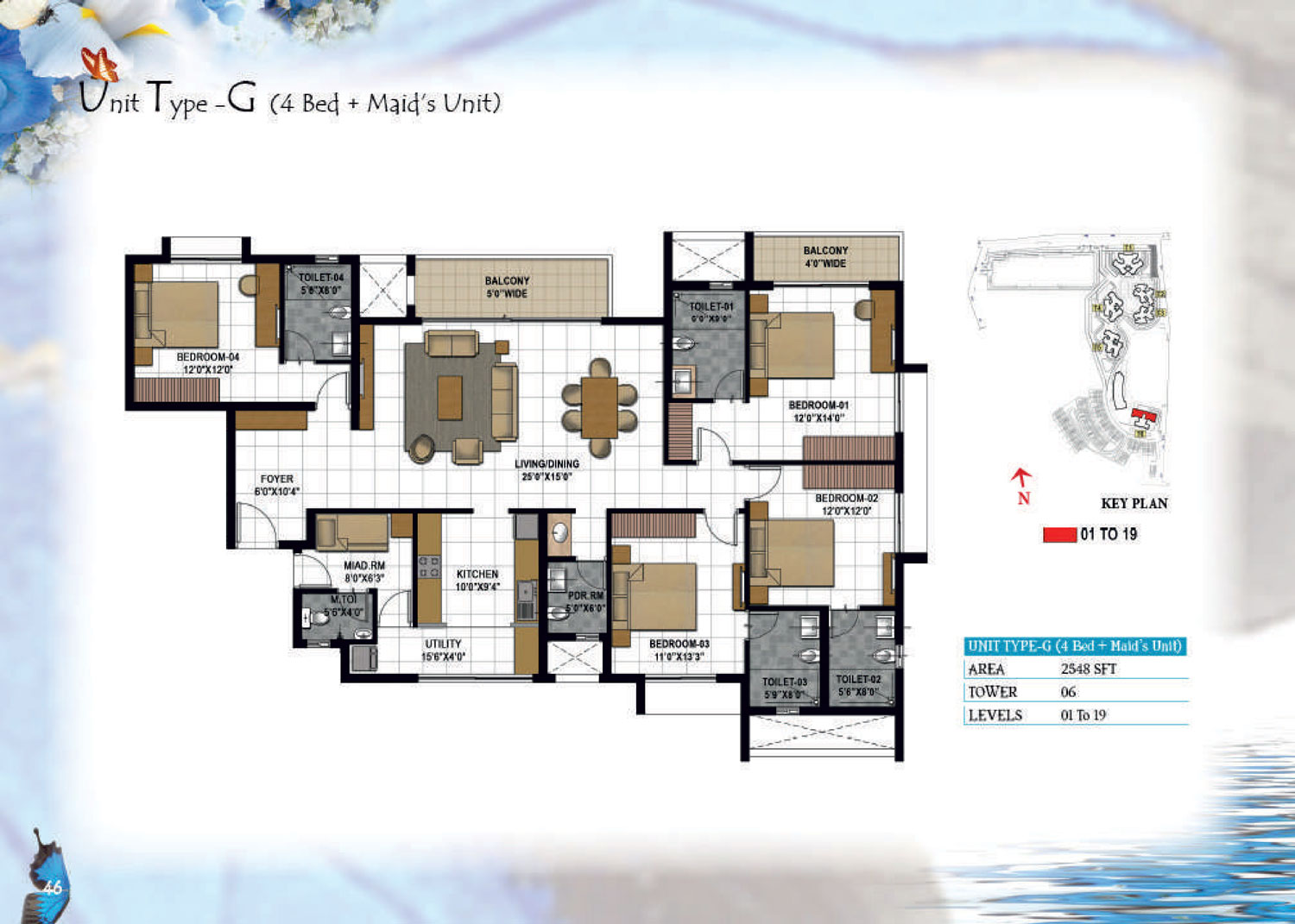 Type G - 2548 Sq Ft