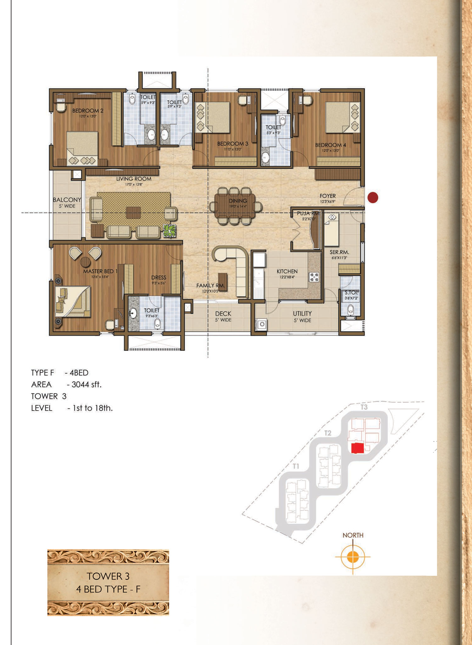 Type F - 4 Bed - 3044 Sq Ft