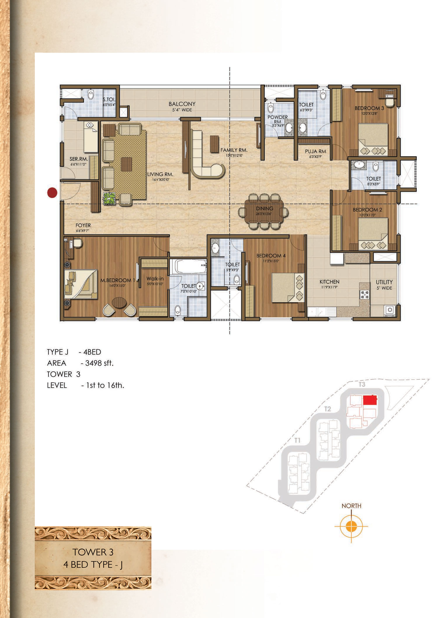 Type J - 3498 Sq Ft