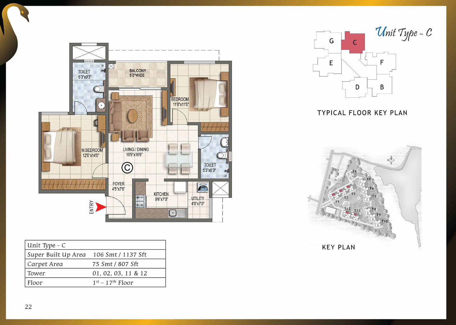 Type C - 1137 Sq Ft