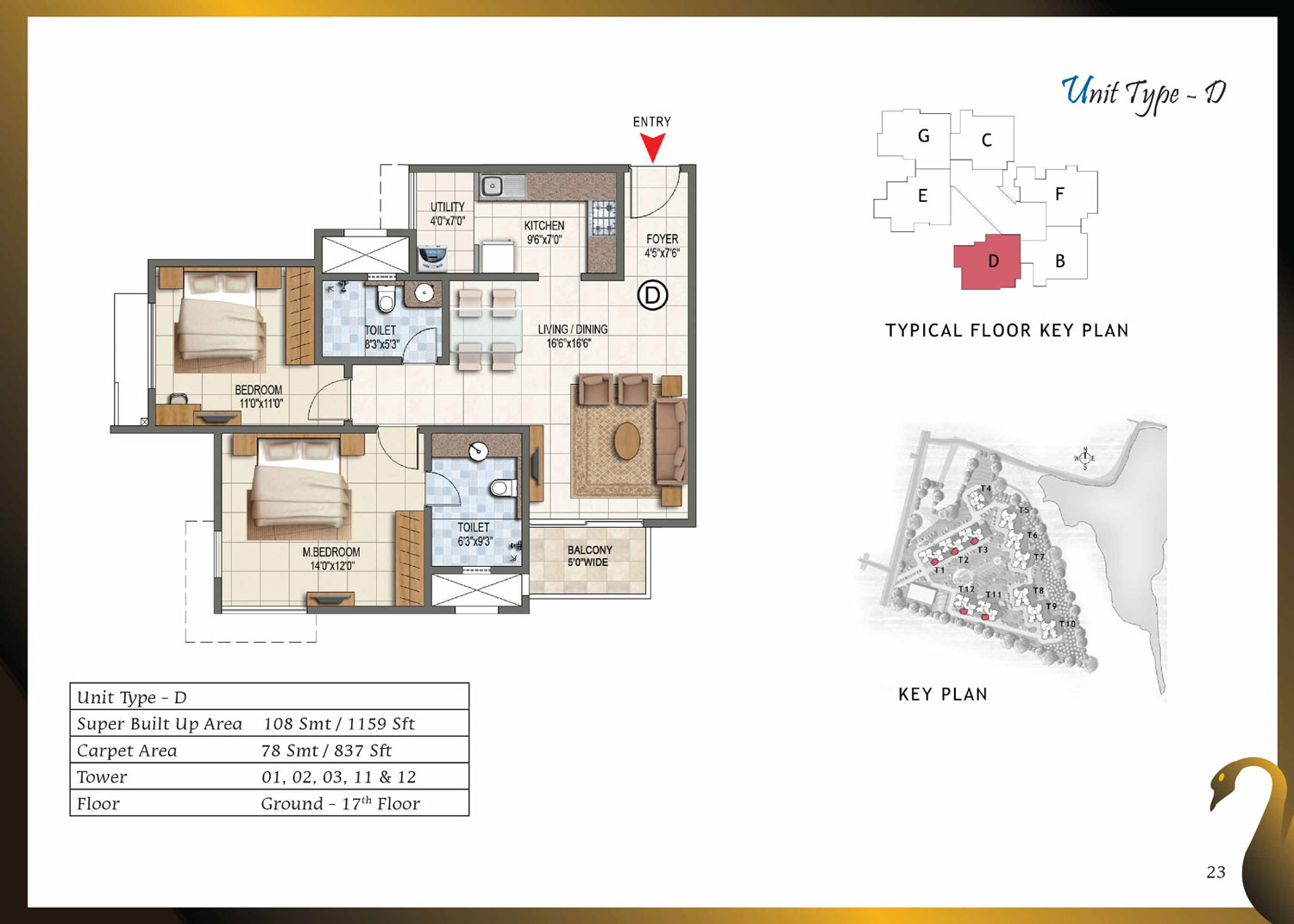 Type D - 1159 Sq Ft