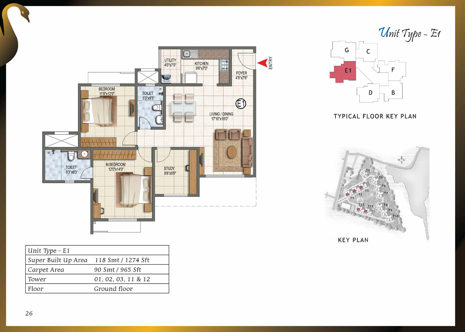 Type E1 - 1274 Sq Ft
