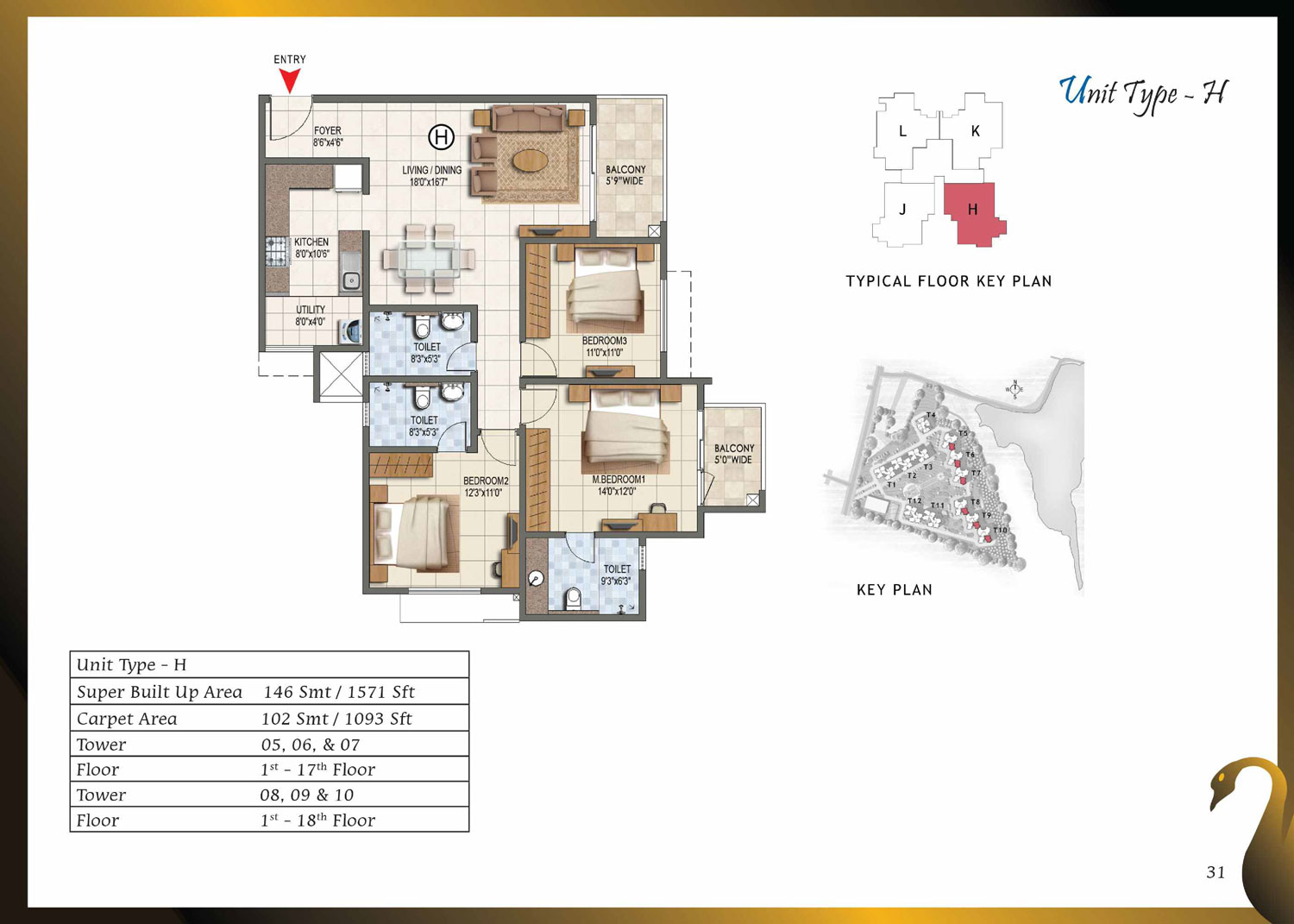 Type H - 1571 Sq Ft