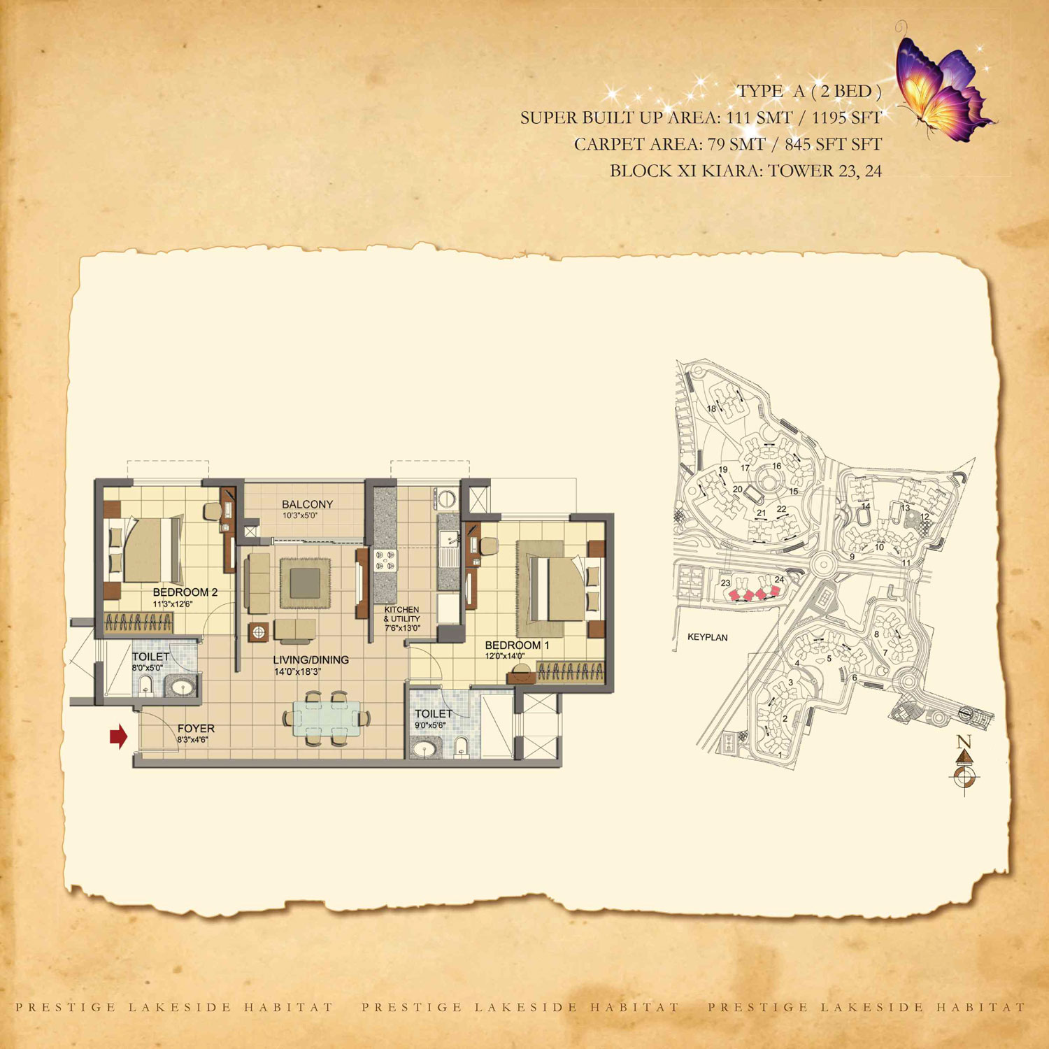 Type A - 1195 Sq Ft