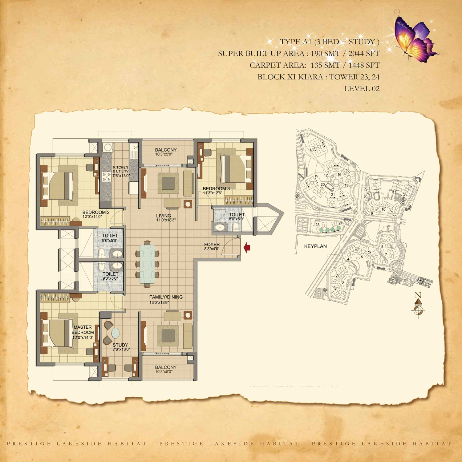 Type A1 - 2044 Sq Ft