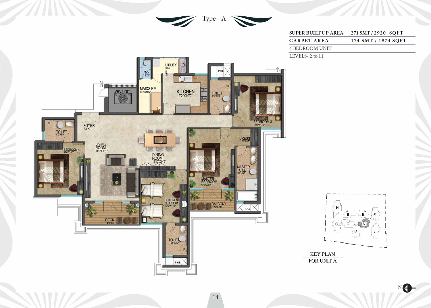 Type A - 2920 Sq Ft