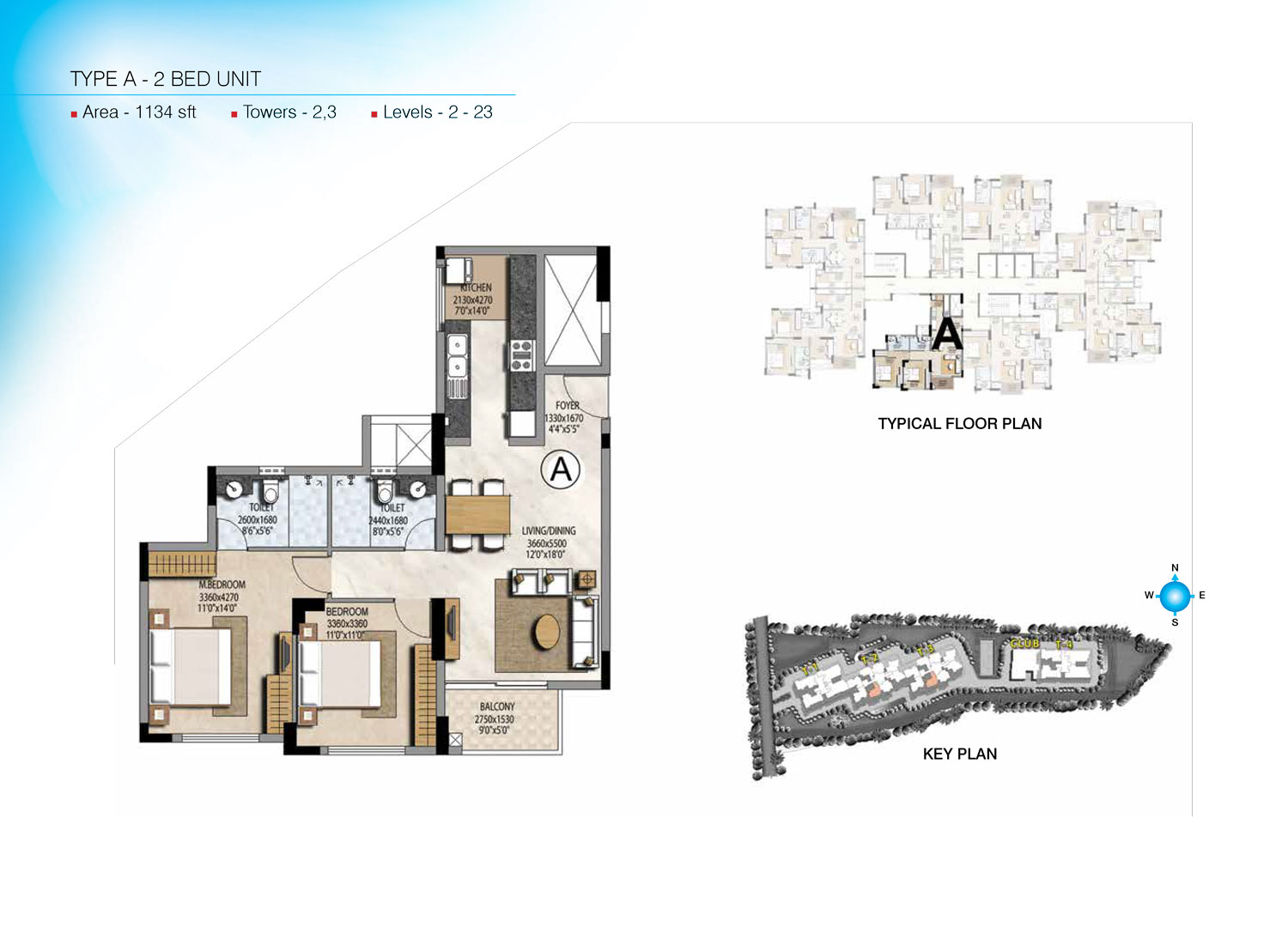 Type A - 1134 Sq Ft