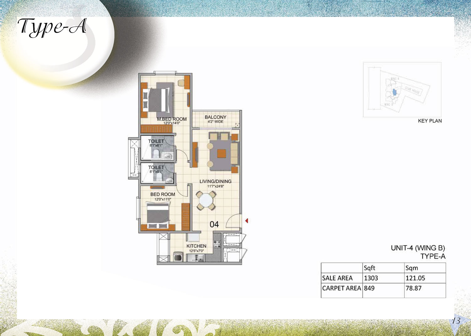 Type A - 1303 Sq Ft