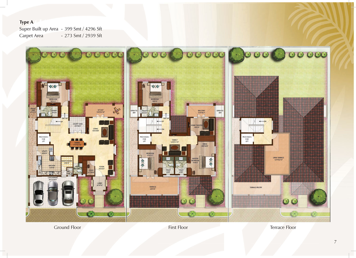 Type A - 4296 Sq Ft