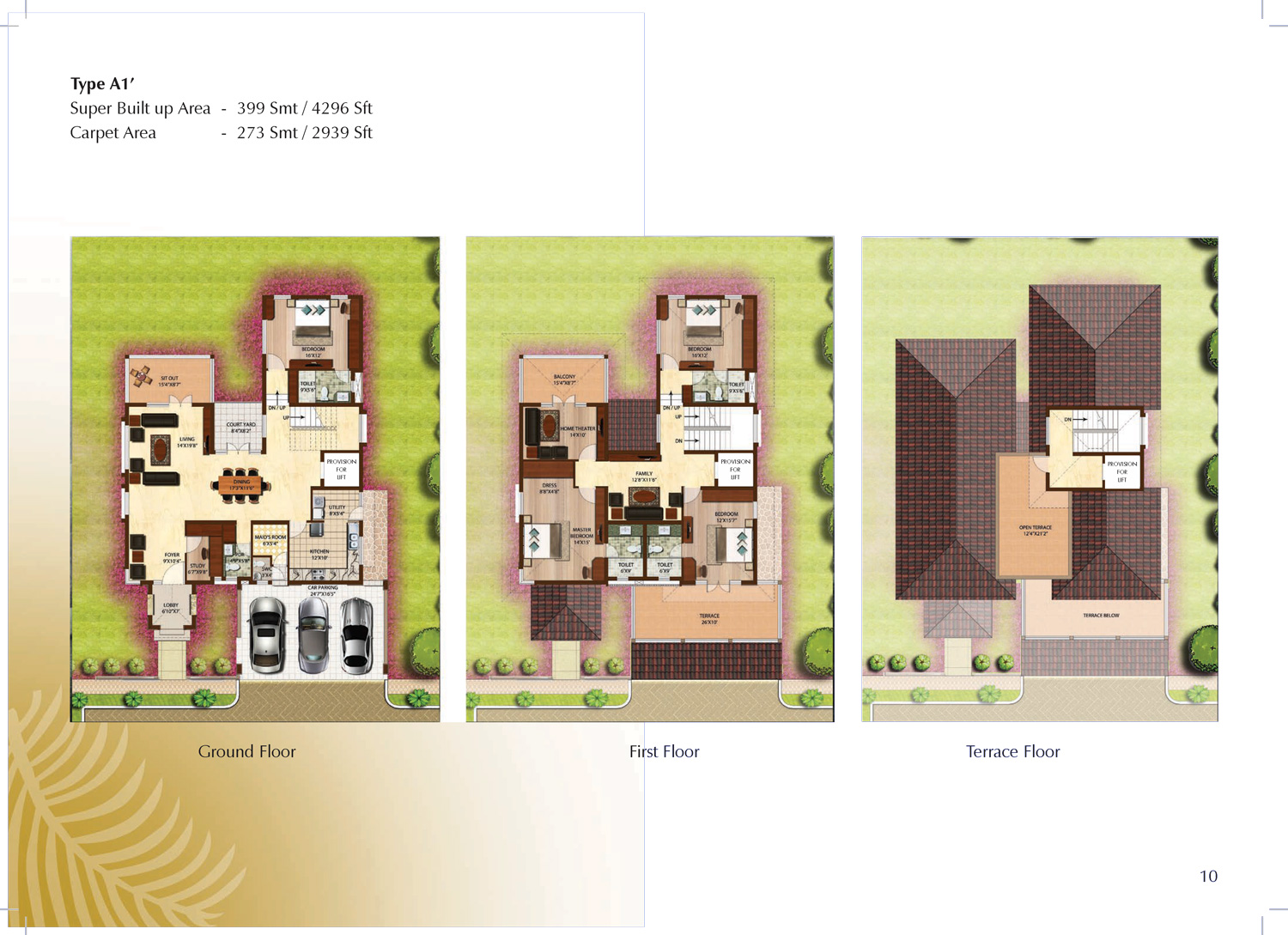 Type A1' - 4296 Sq Ft