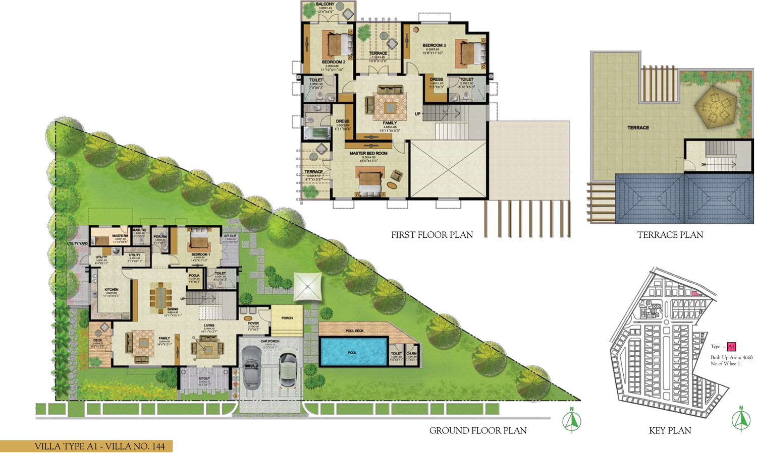 Type A1 - 4 Bed - 4668 Sq Ft