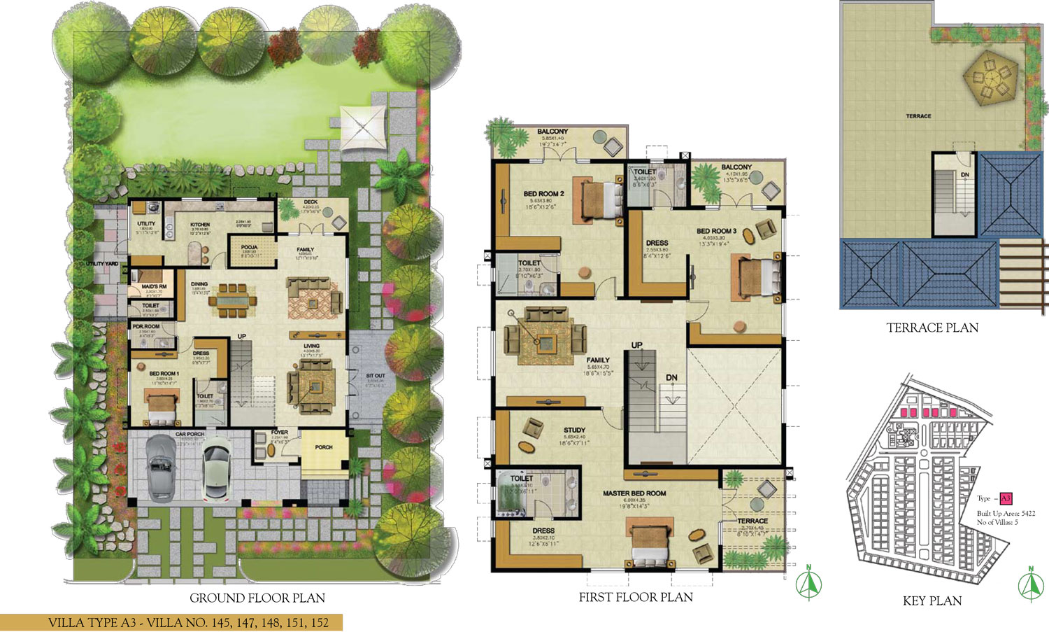 Type A3 - 4 Bed - 5422 Sq Ft