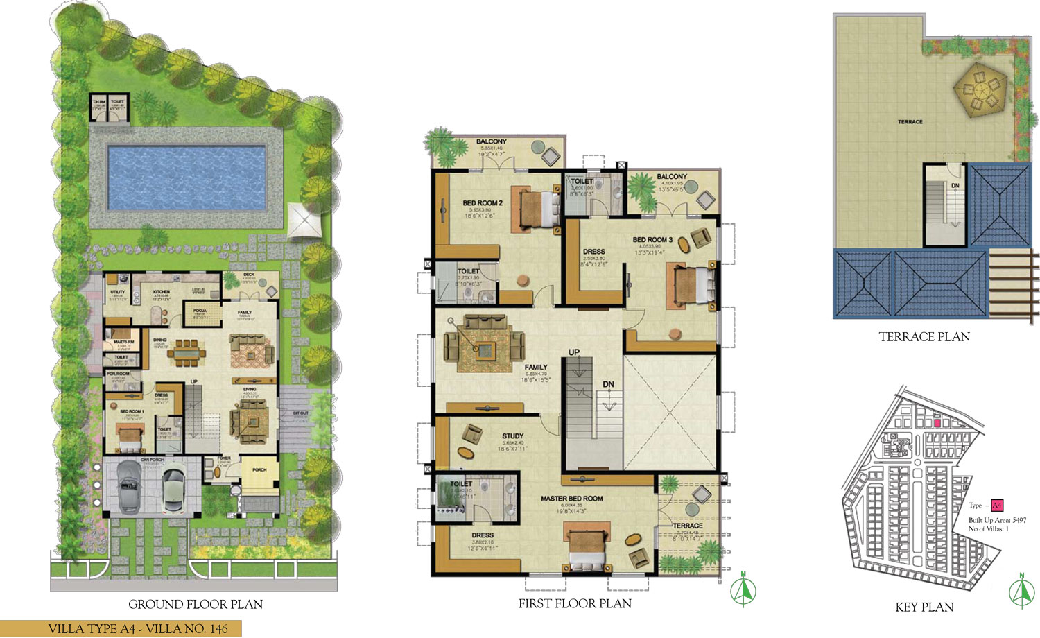 Type A4 - 4 Bed - 5497 Sq Ft